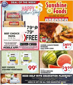 Catalogue Sunshine Foods from 05/05/2021