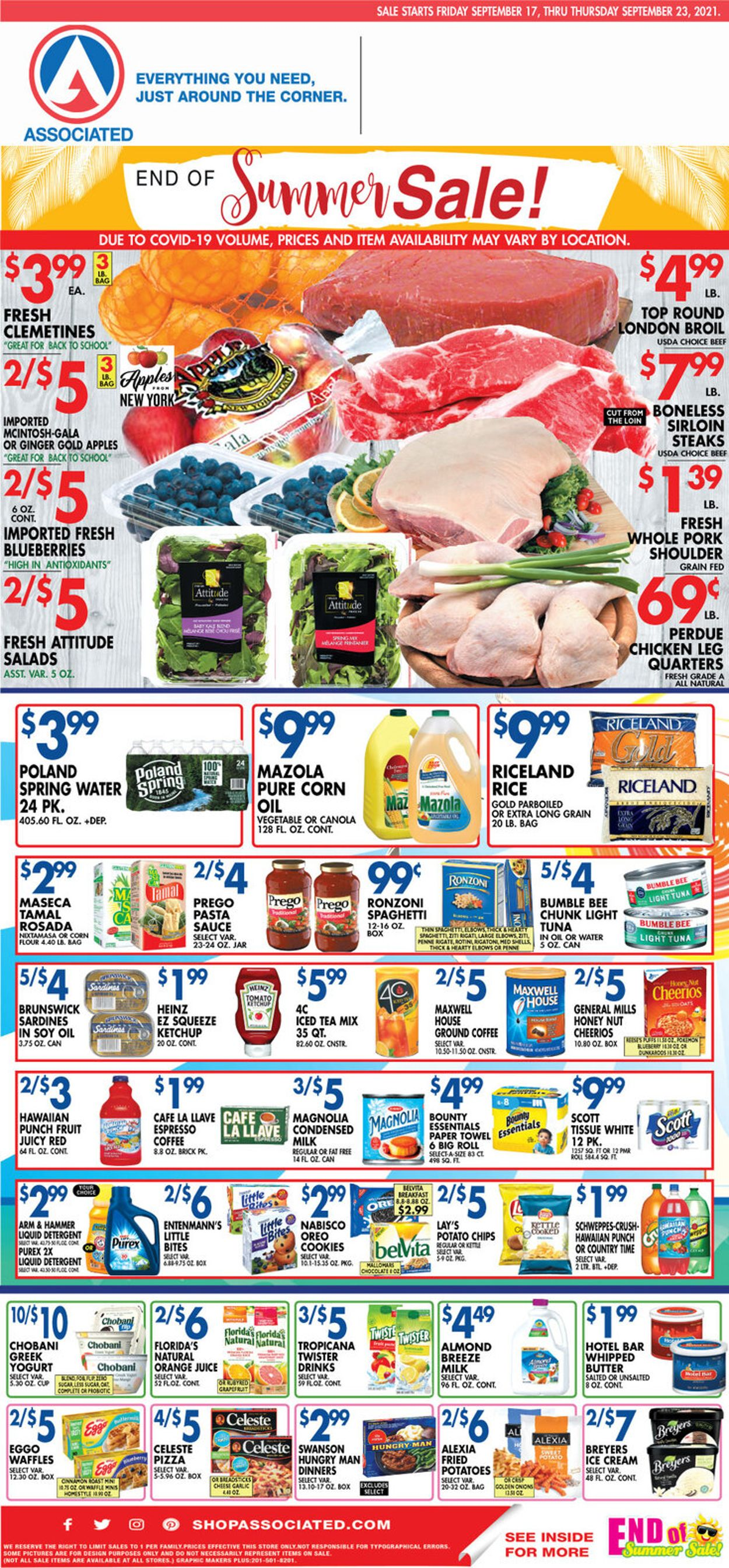 Catalogue Associated Supermarkets from 09/17/2021