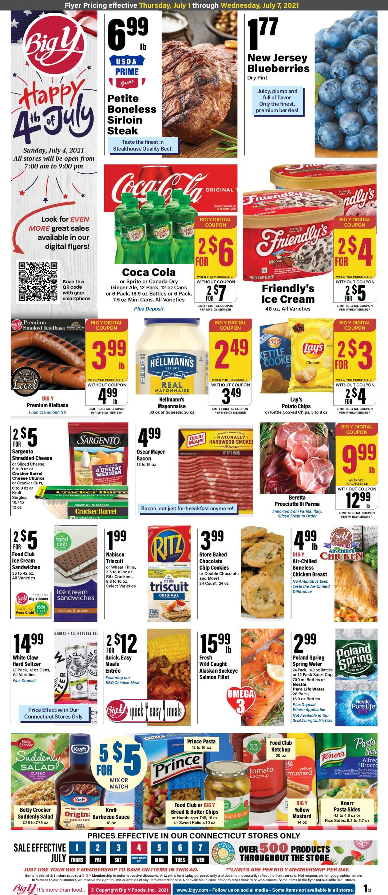 Catalogue Big Y from 07/01/2021
