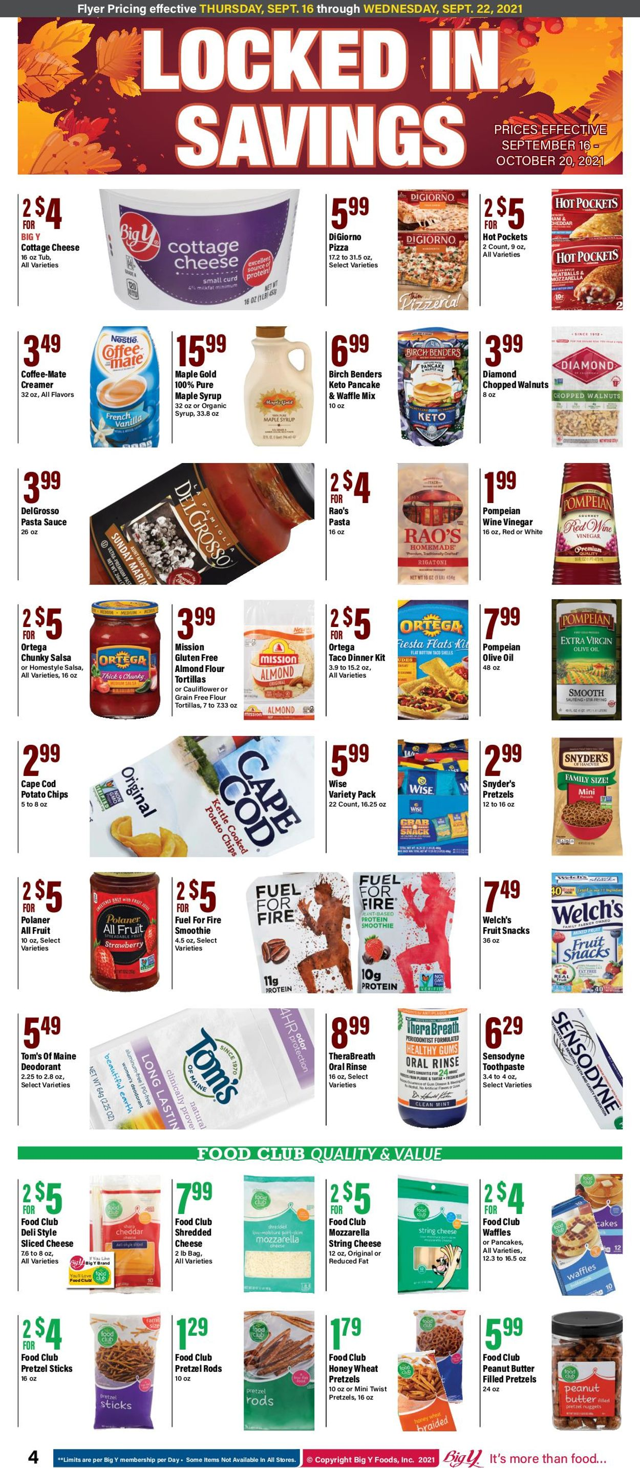 Catalogue Big Y from 09/16/2021