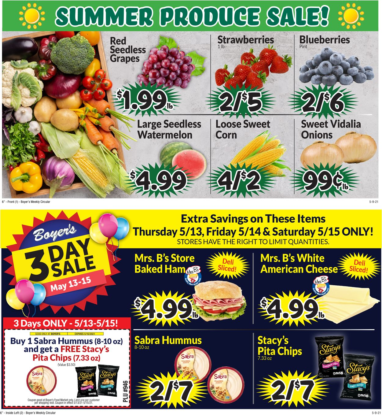 Catalogue Boyer's Food Markets from 05/09/2021