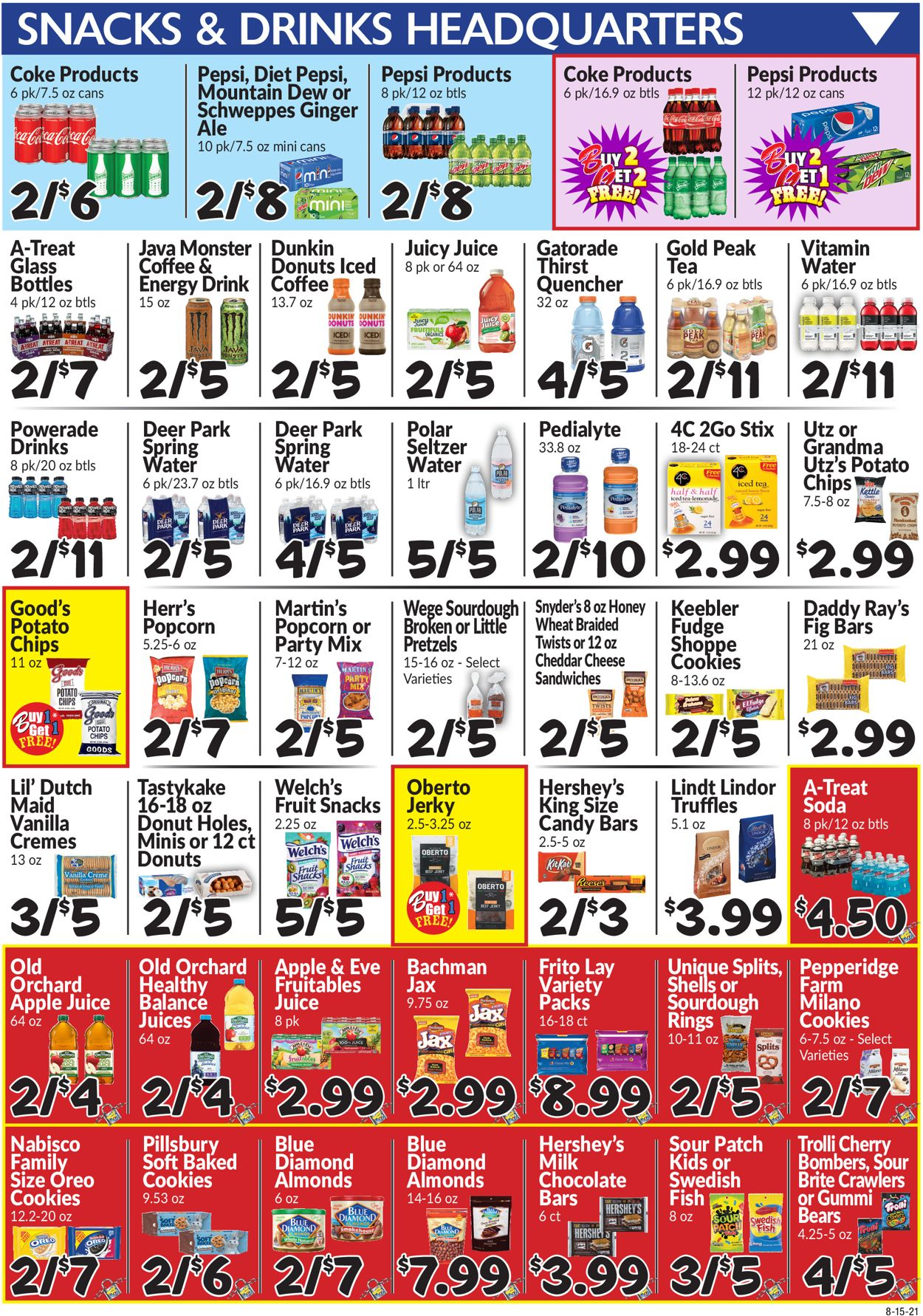 Catalogue Boyer's Food Markets from 08/15/2021