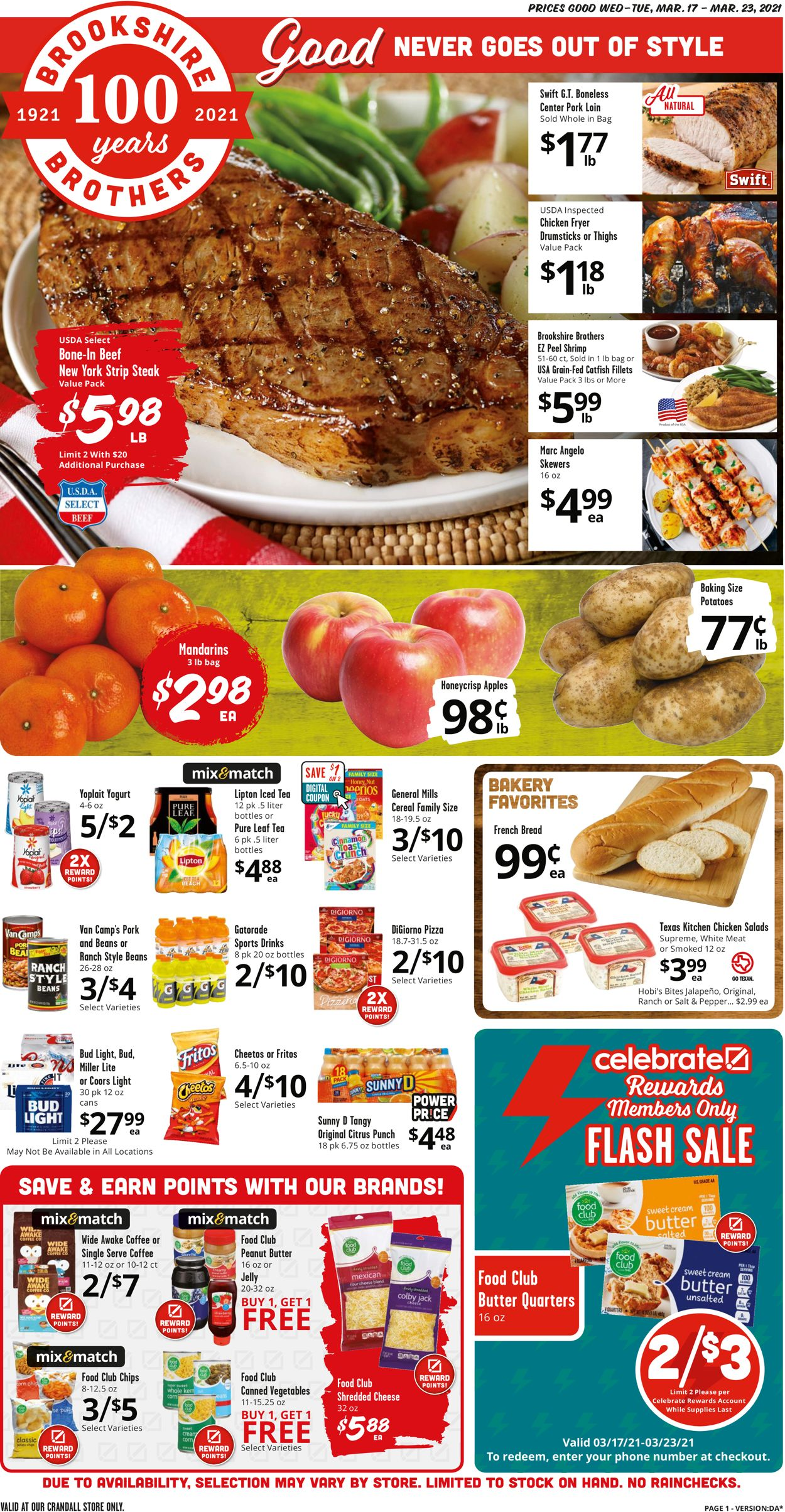 Catalogue Brookshire Brothers from 03/17/2021