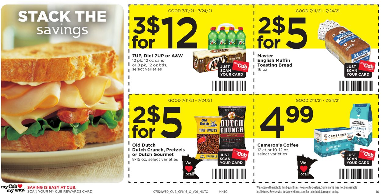 Catalogue Cub Foods from 07/11/2021