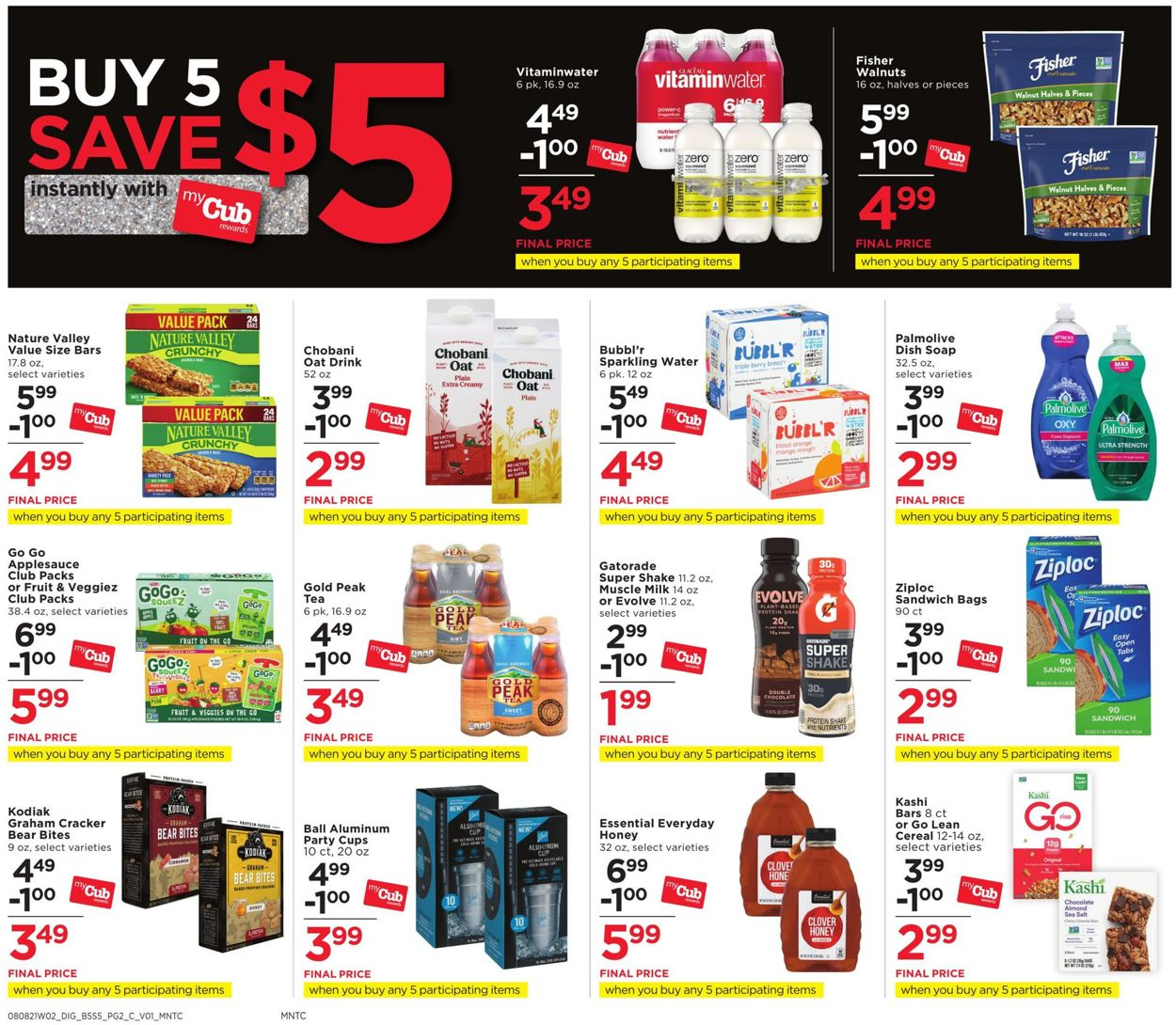 Catalogue Cub Foods from 08/08/2021
