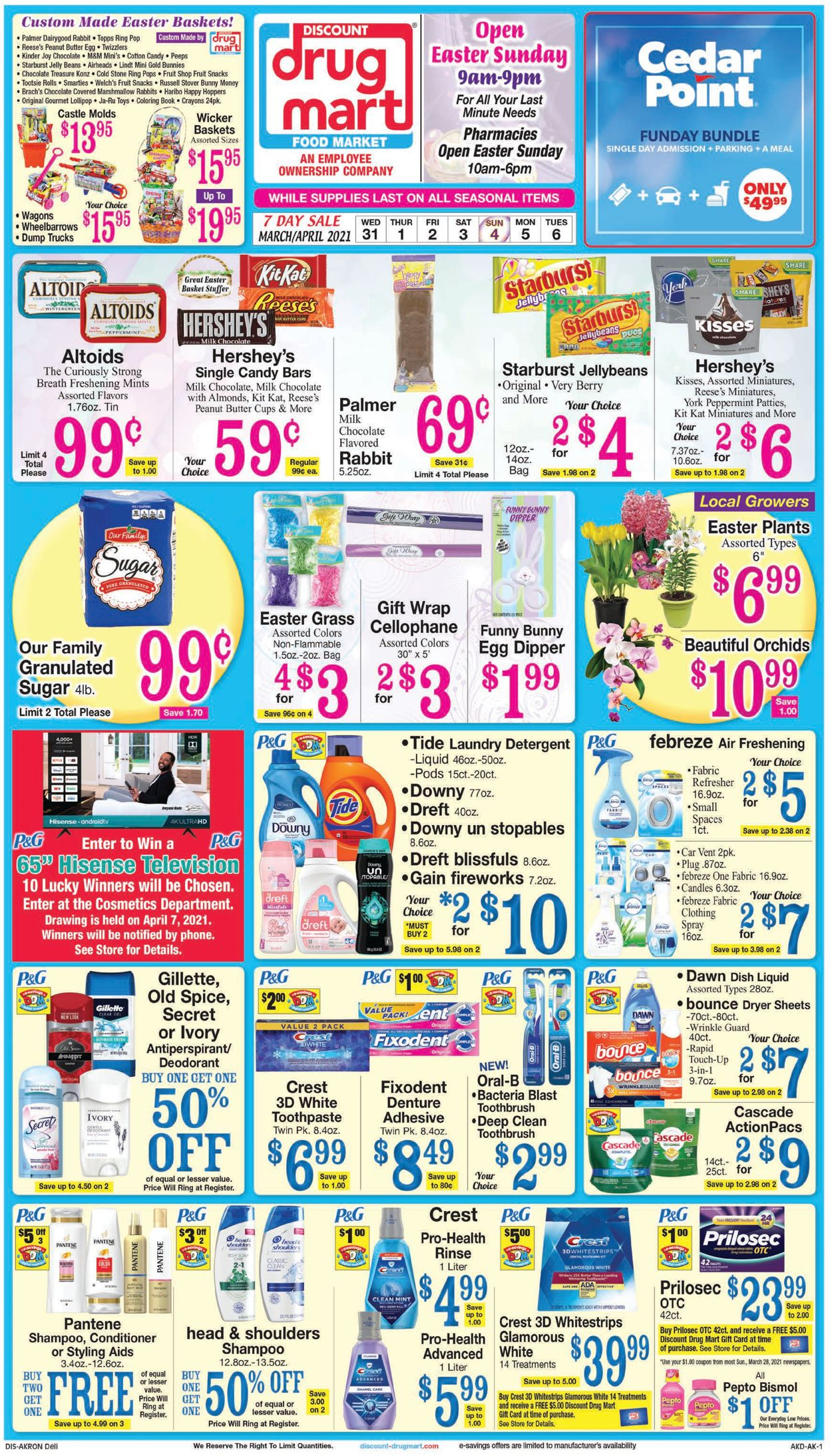 Catalogue Discount Drug Mart - Easter 2021 from 03/31/2021
