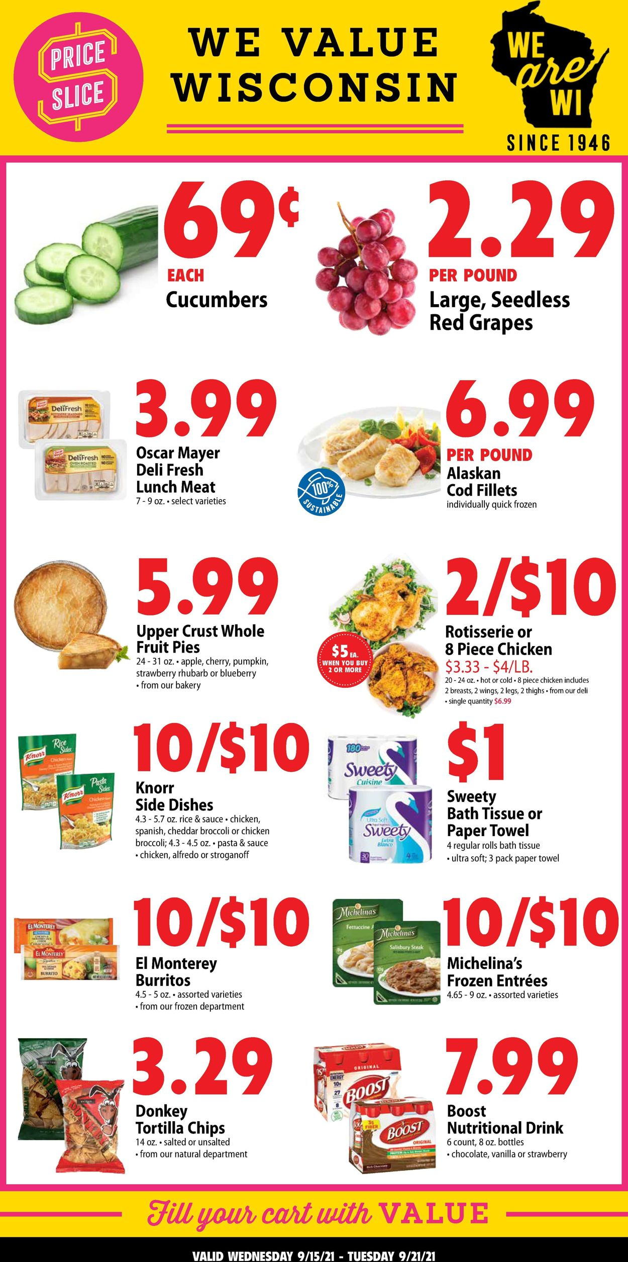 Catalogue Festival Foods from 09/15/2021