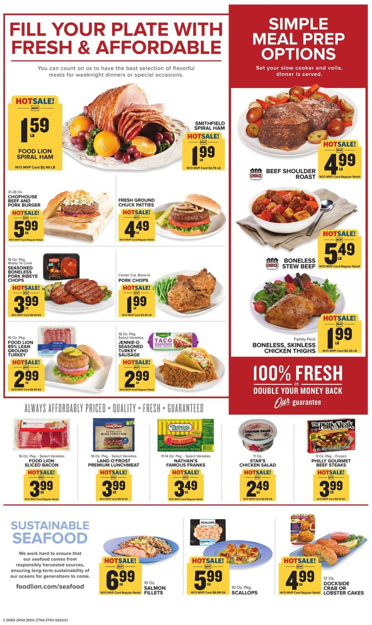 Catalogue Food Lion from 03/24/2021