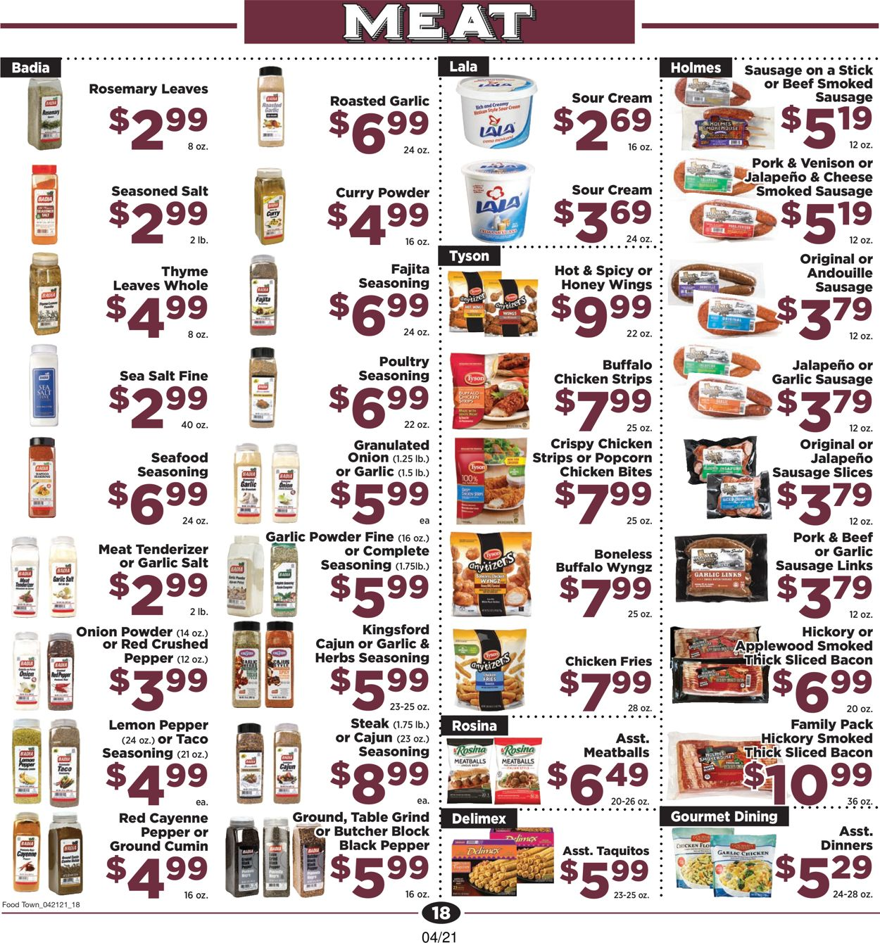 Catalogue Food Town from 04/21/2021