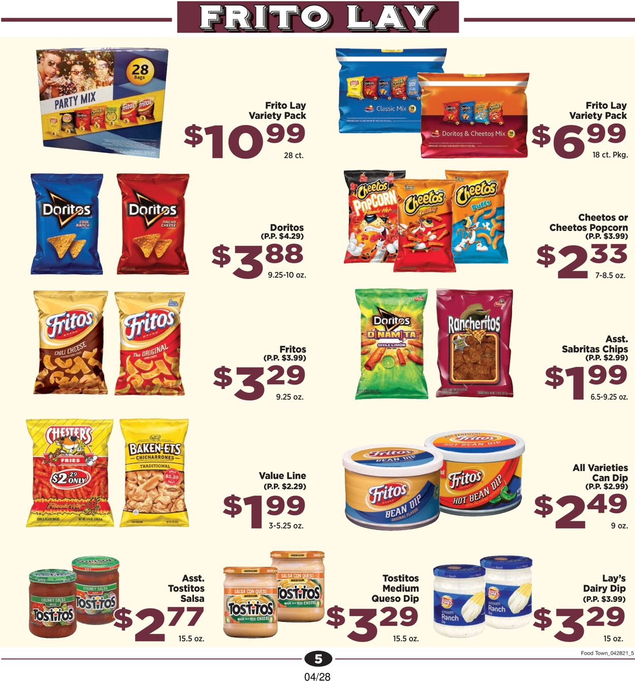 Catalogue Food Town from 04/28/2021