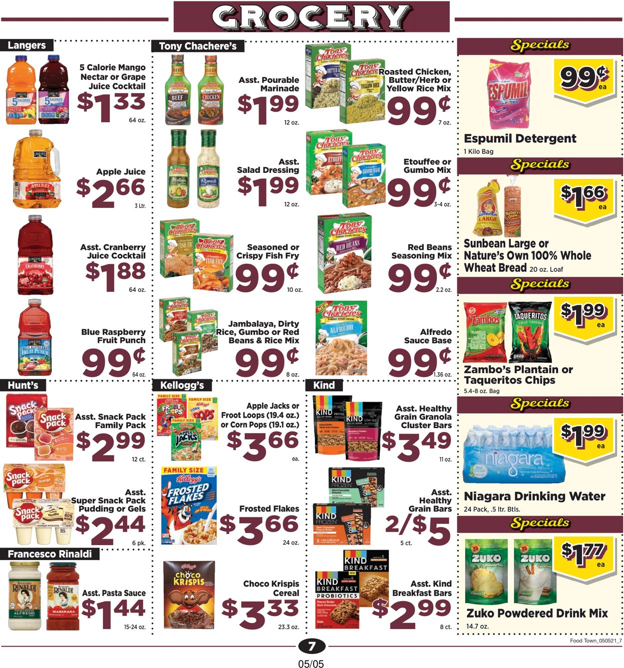 Catalogue Food Town from 05/05/2021
