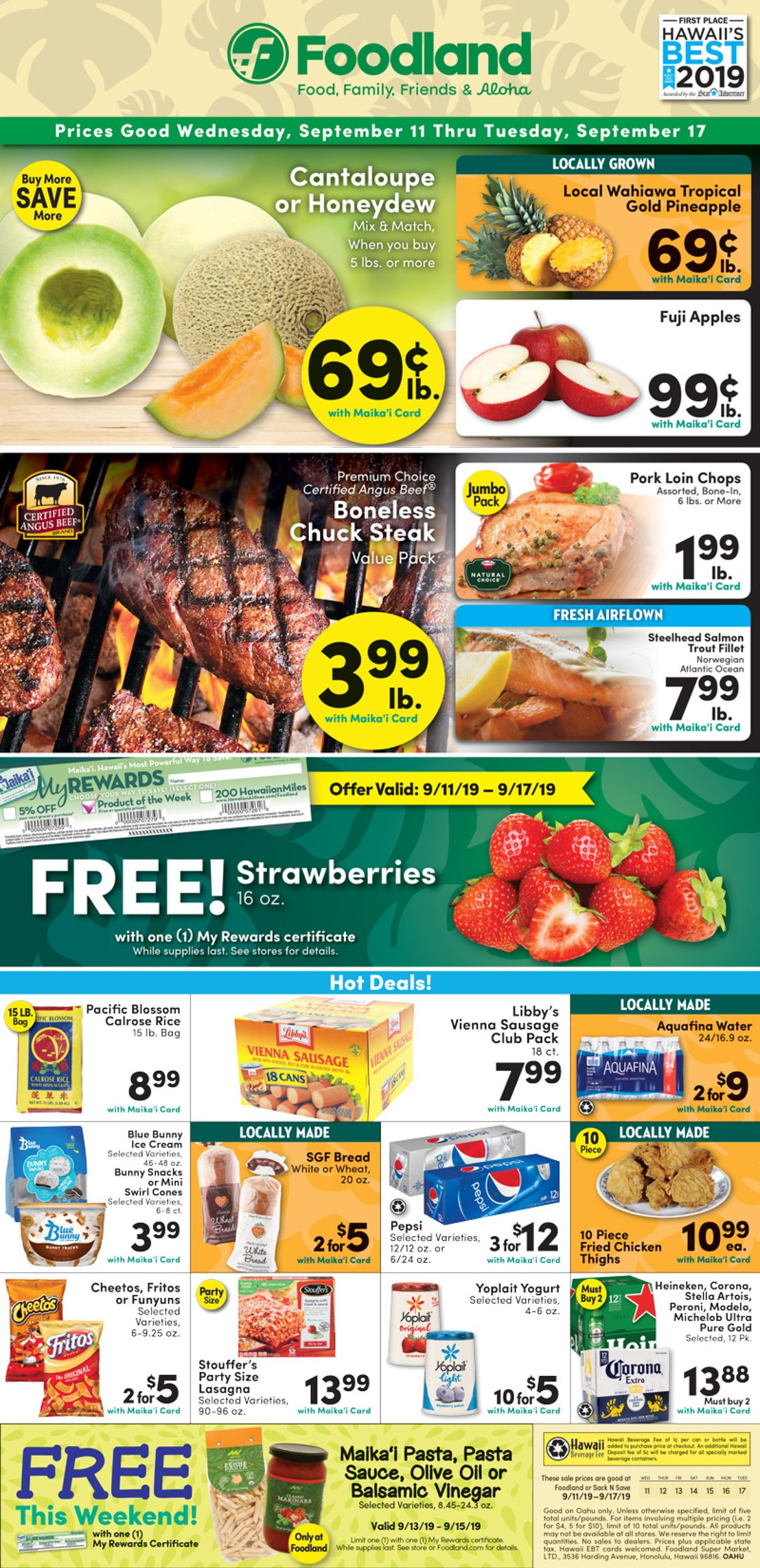 Catalogue Foodland from 09/11/2019