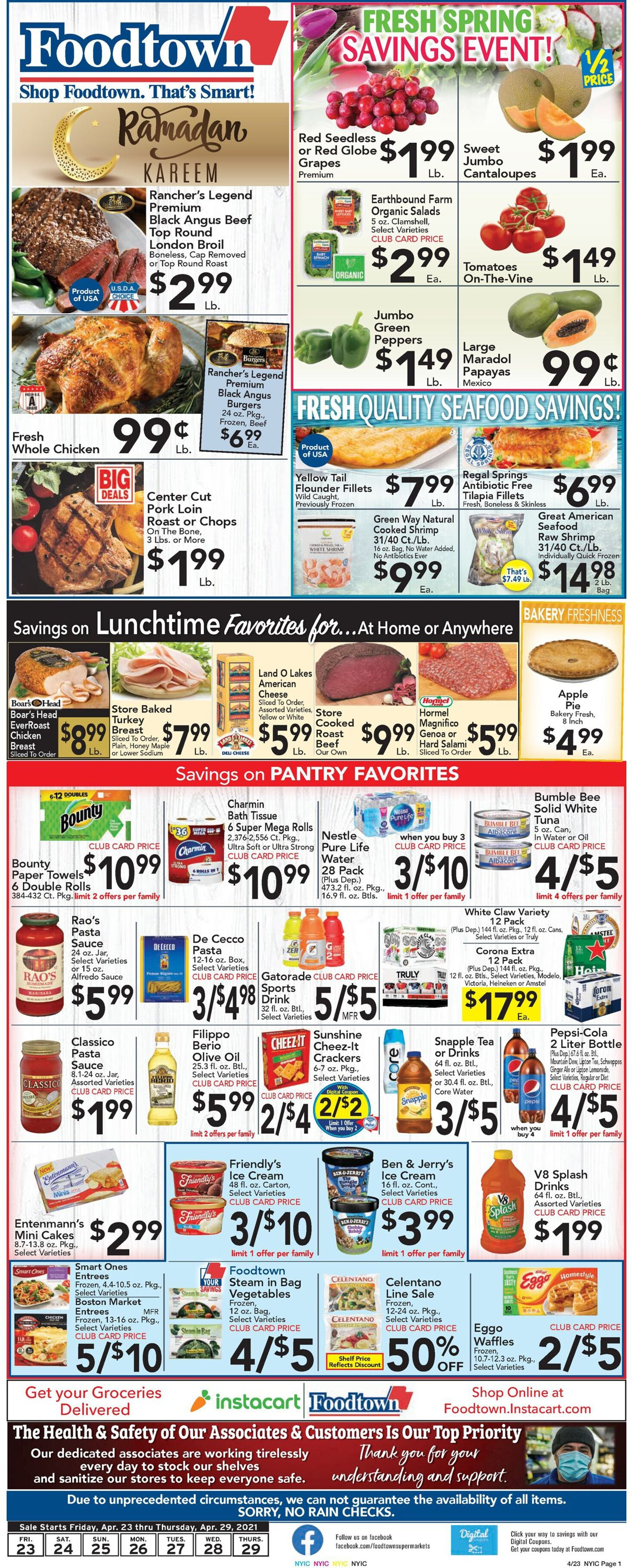 Catalogue Foodtown from 04/23/2021