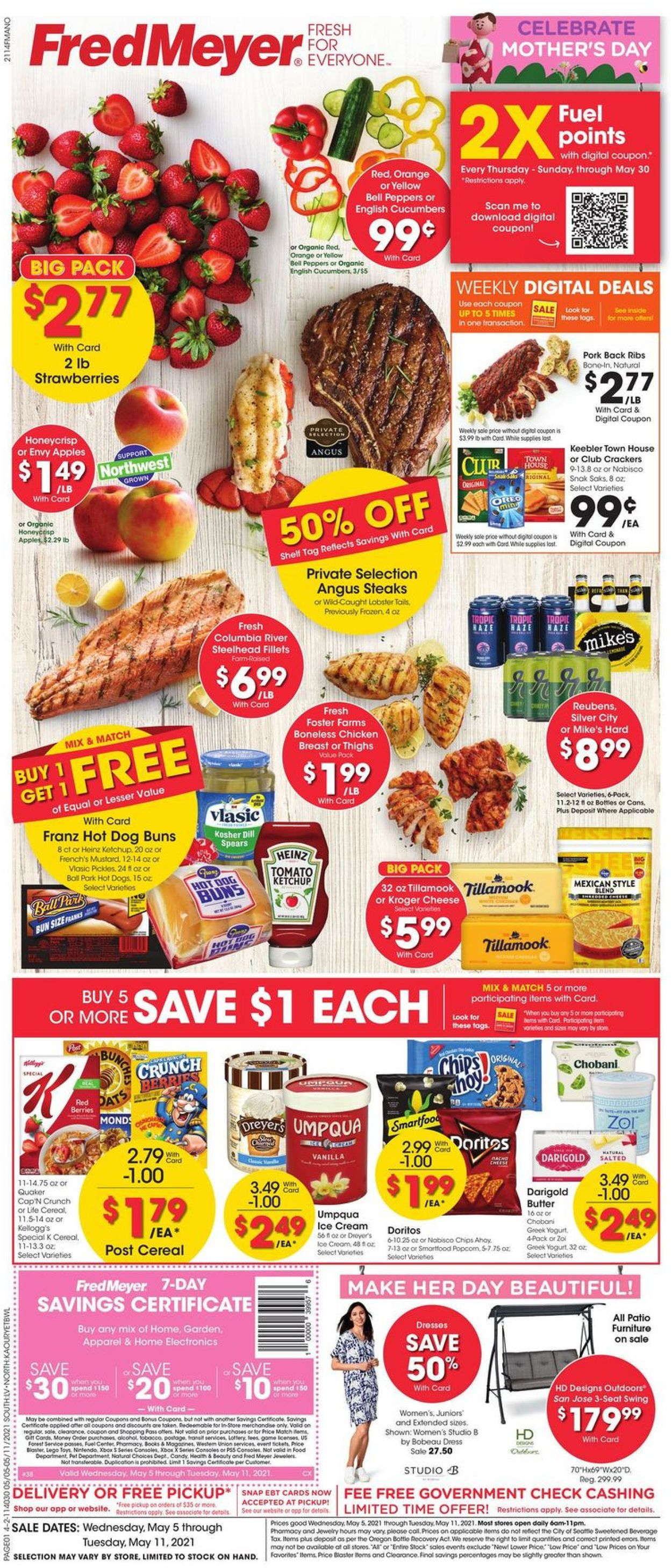 Catalogue Fred Meyer from 05/05/2021