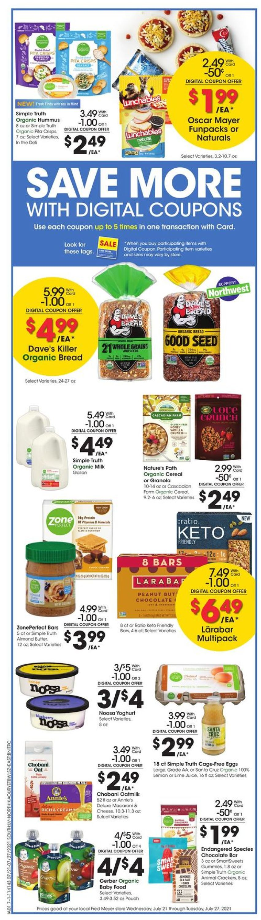 Catalogue Fred Meyer from 07/21/2021