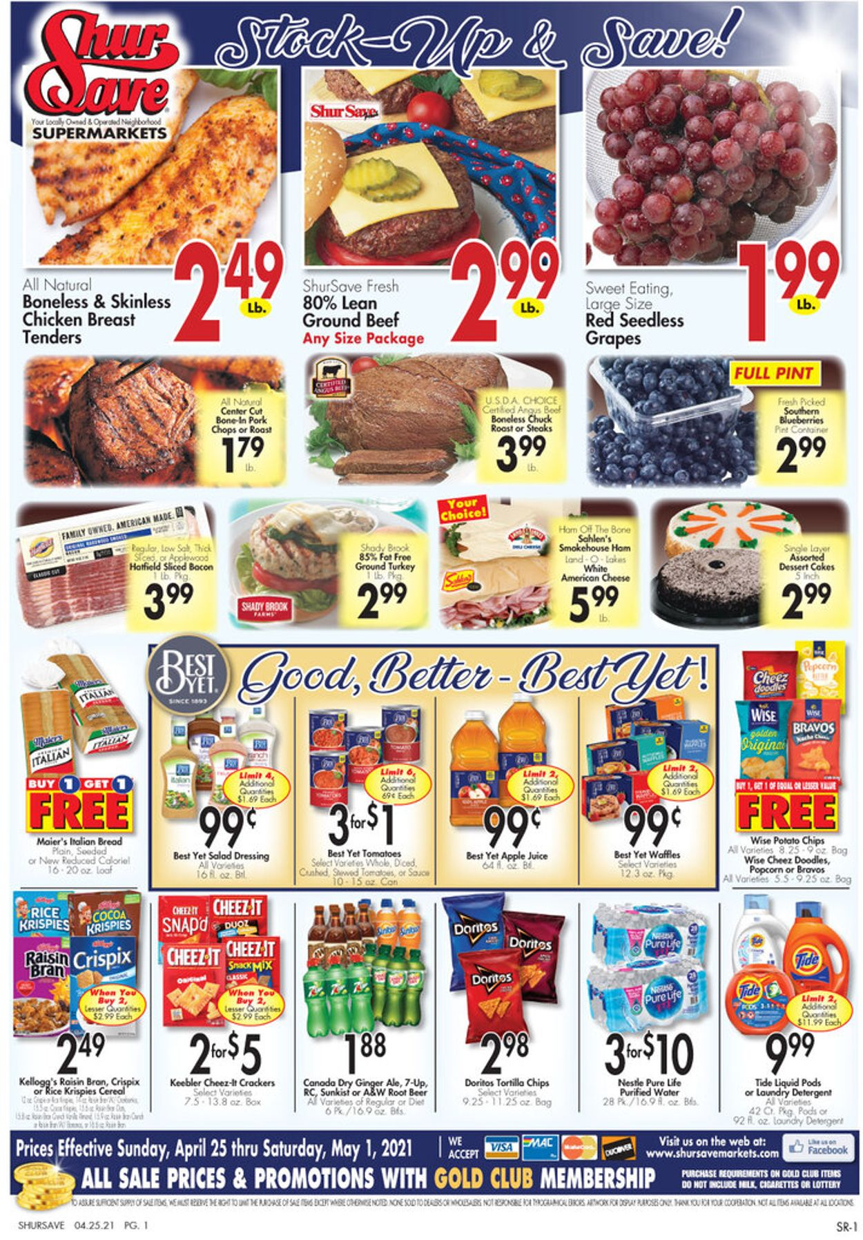 Catalogue Gerrity's Supermarkets from 04/25/2021