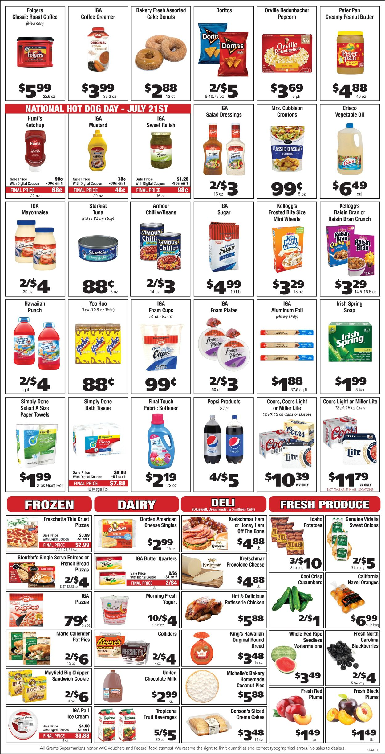 Catalogue Grant's Supermarket from 07/21/2021