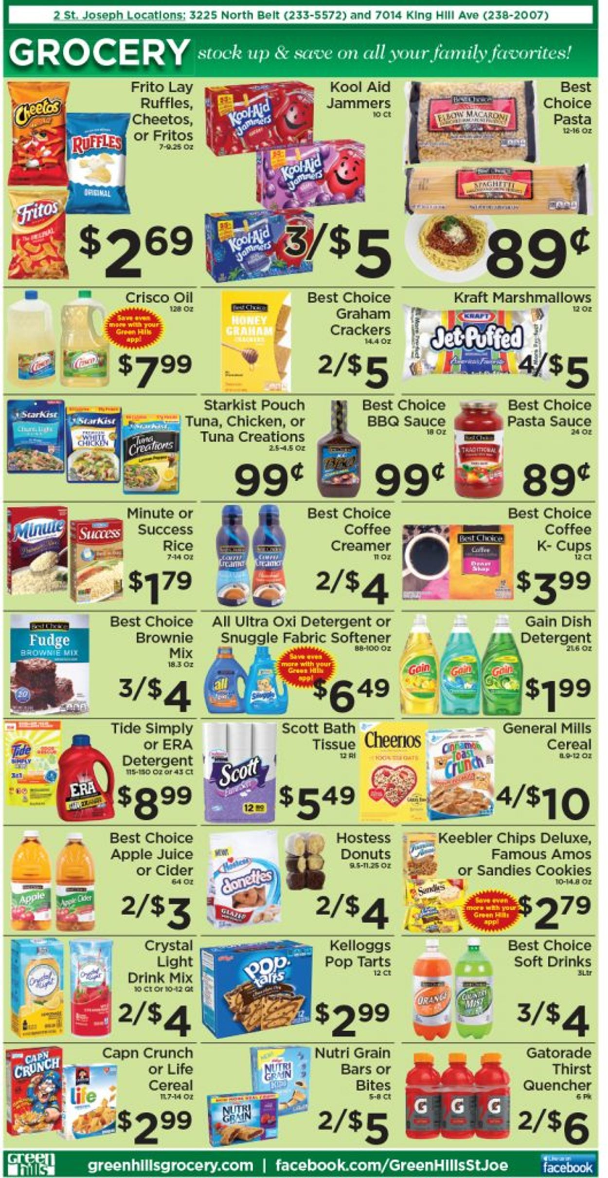 Catalogue Green Hills Grocery from 07/14/2021