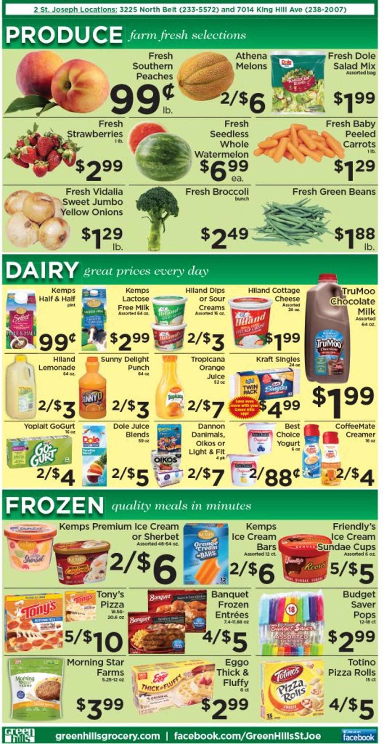 Catalogue Green Hills Grocery from 07/21/2021