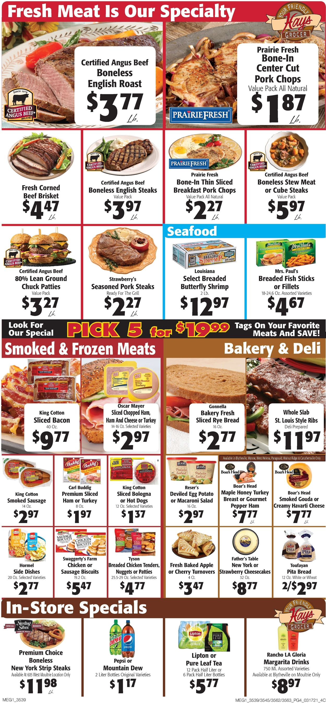 Catalogue Hays Supermarket from 03/17/2021