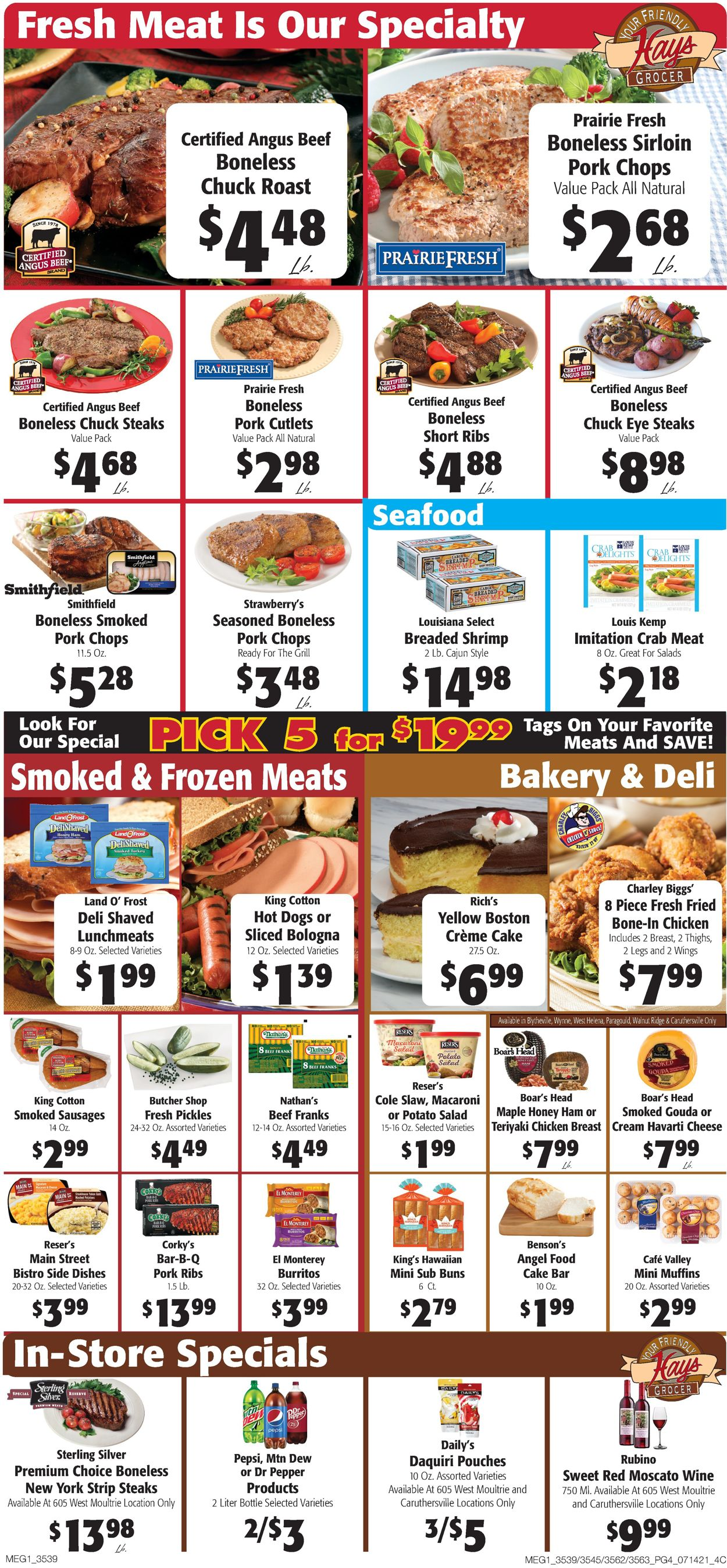 Catalogue Hays Supermarket from 07/14/2021