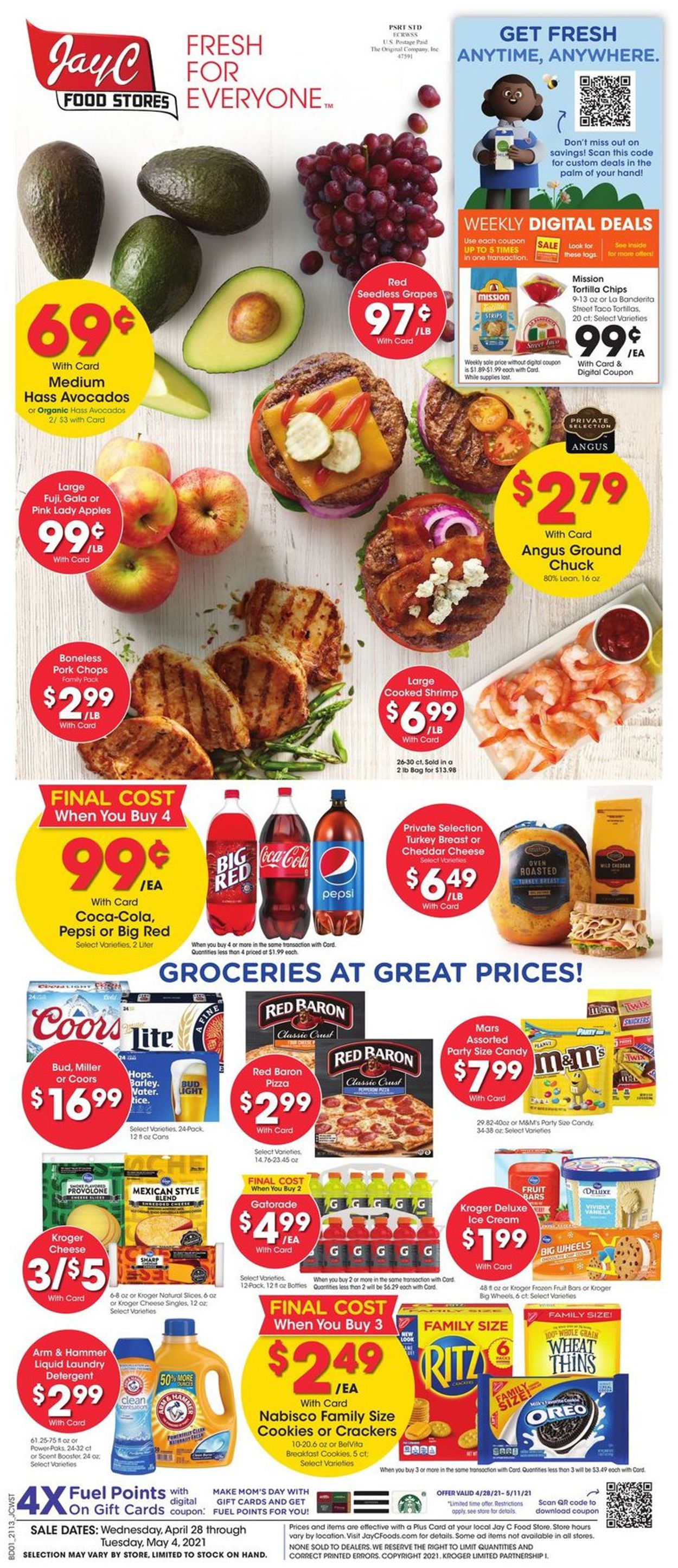 Catalogue Jay C Food Stores from 04/28/2021