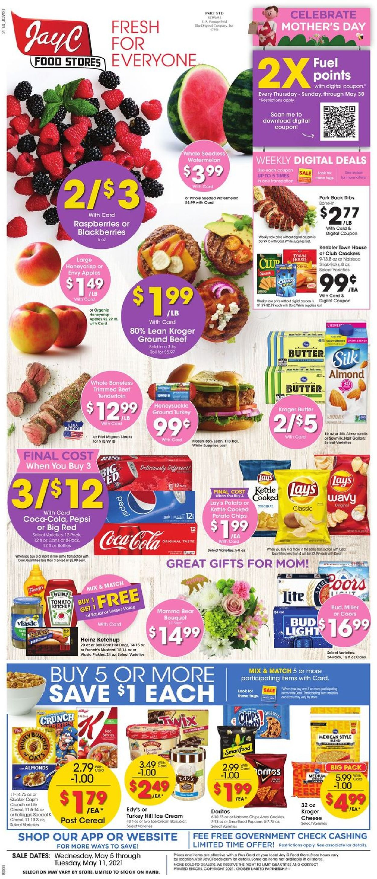 Catalogue Jay C Food Stores from 05/05/2021