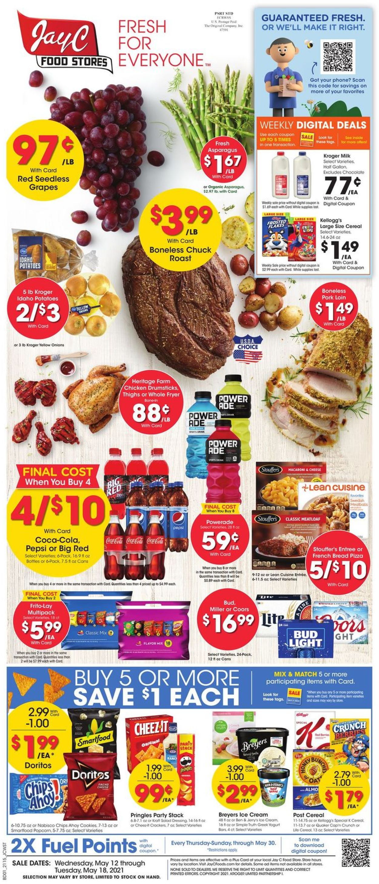 Catalogue Jay C Food Stores from 05/12/2021
