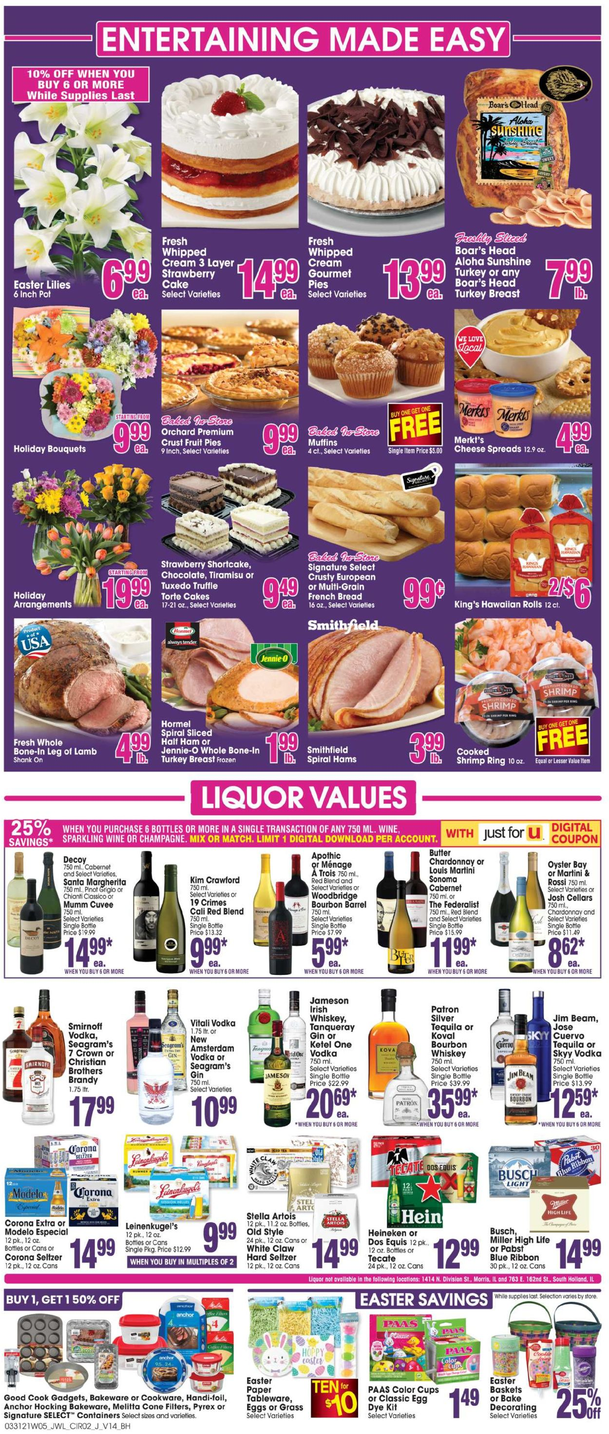 Catalogue Jewel Osco - Easter 2021 ad from 03/31/2021