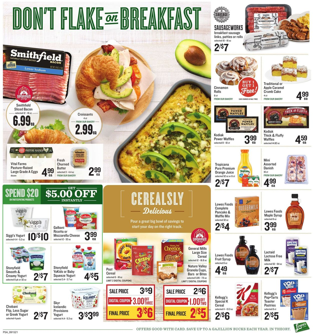 Catalogue Lowes Foods from 09/15/2021
