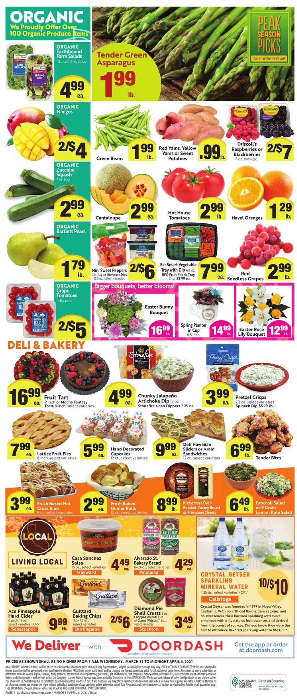 Catalogue Lucky Supermarkets Easter 2021 from 03/31/2021