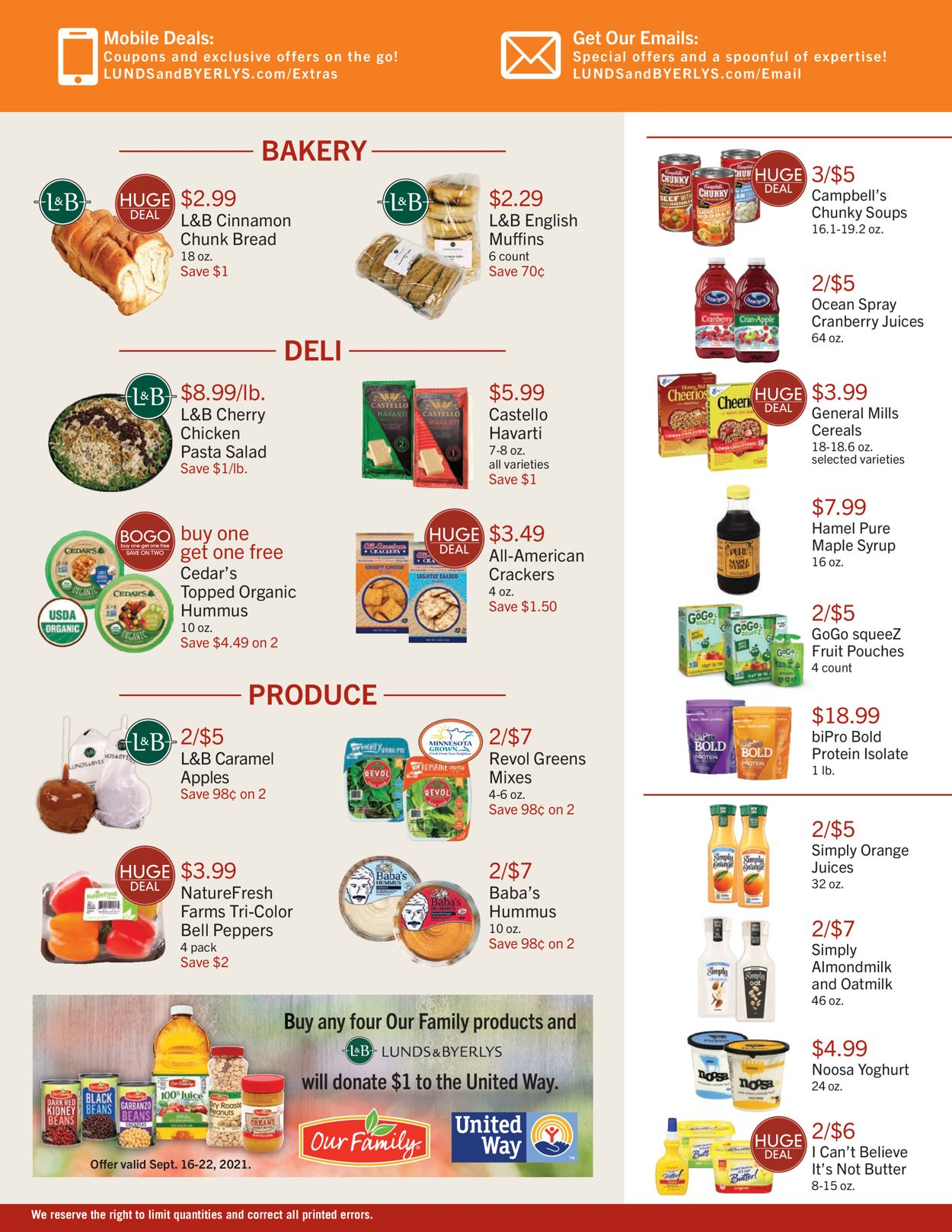 Catalogue Lunds & Byerlys from 09/16/2021