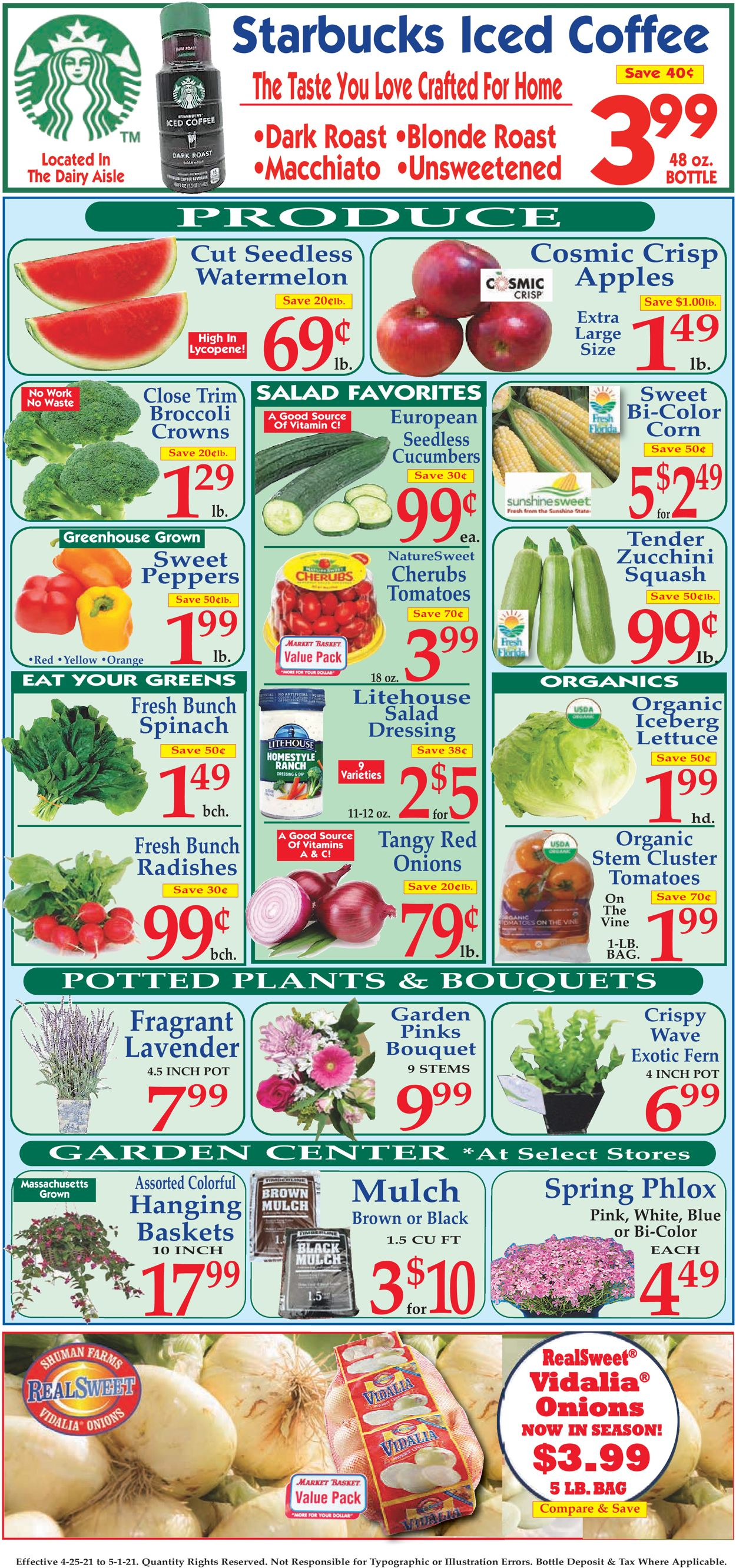 Catalogue Market Basket from 04/25/2021