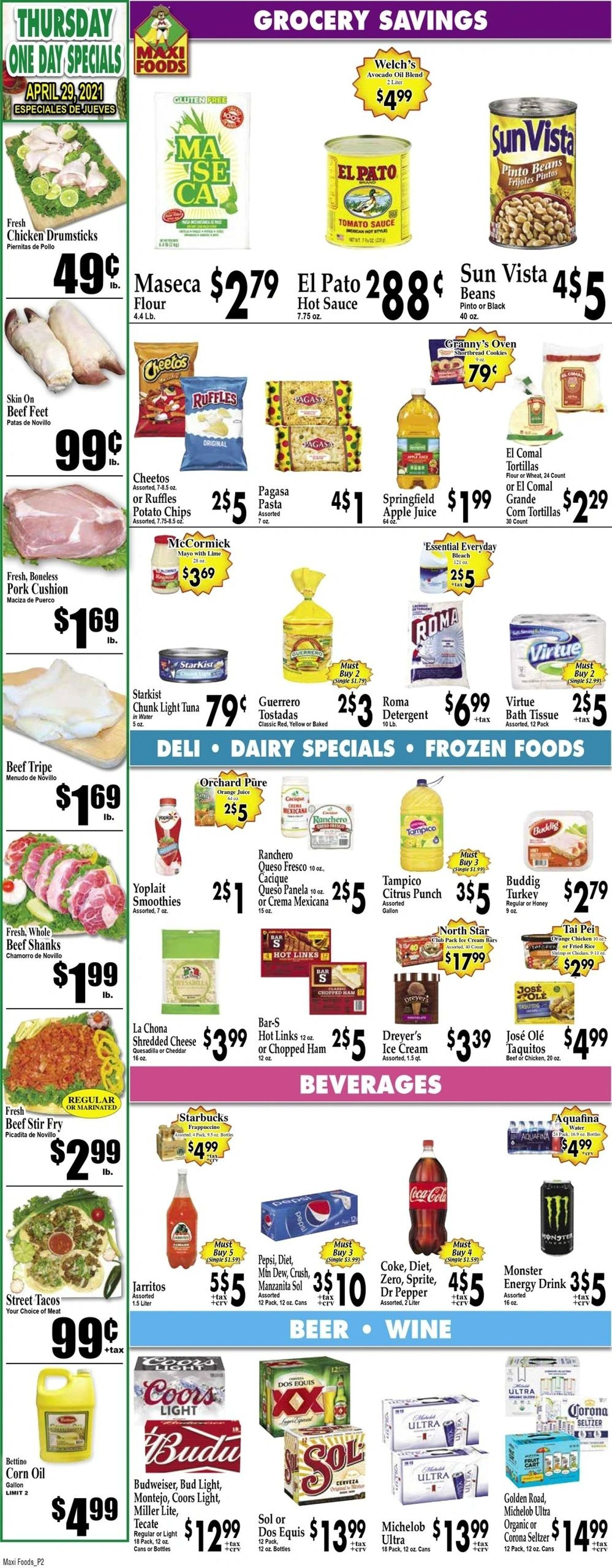 Catalogue Maxi Foods from 04/28/2021
