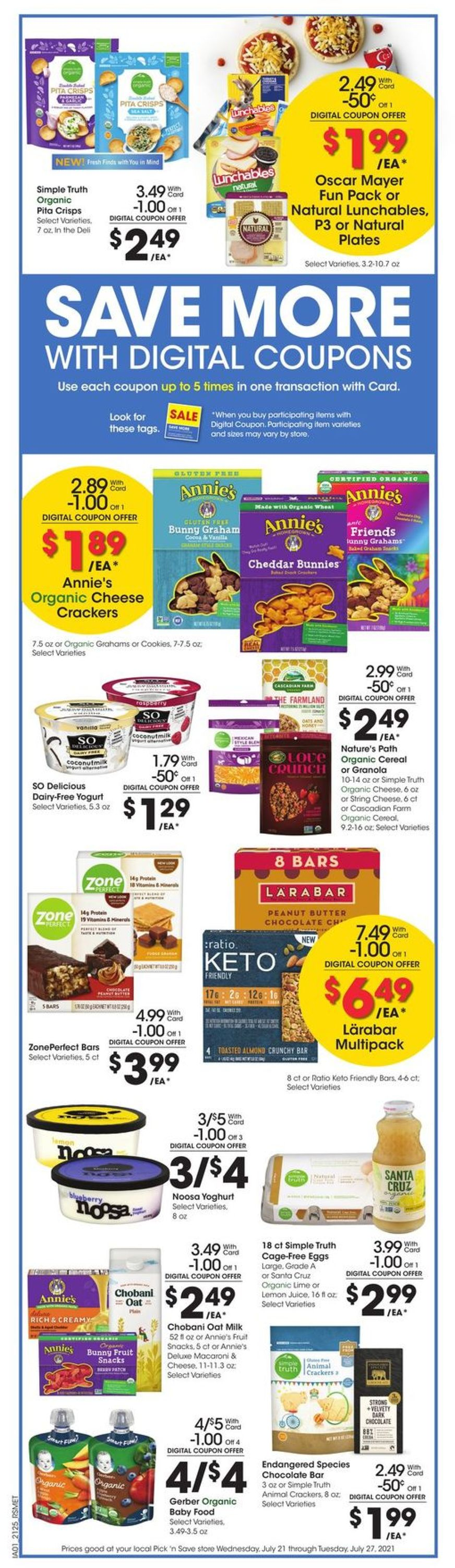 Catalogue Pick 'n Save from 07/21/2021