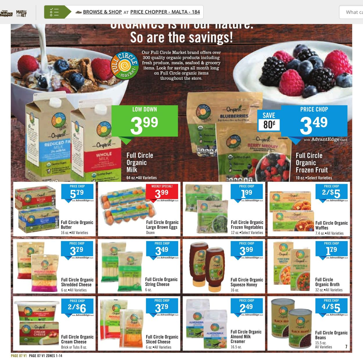 Catalogue Price Chopper from 07/18/2021