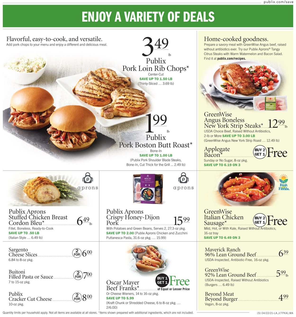Catalogue Publix from 04/22/2021