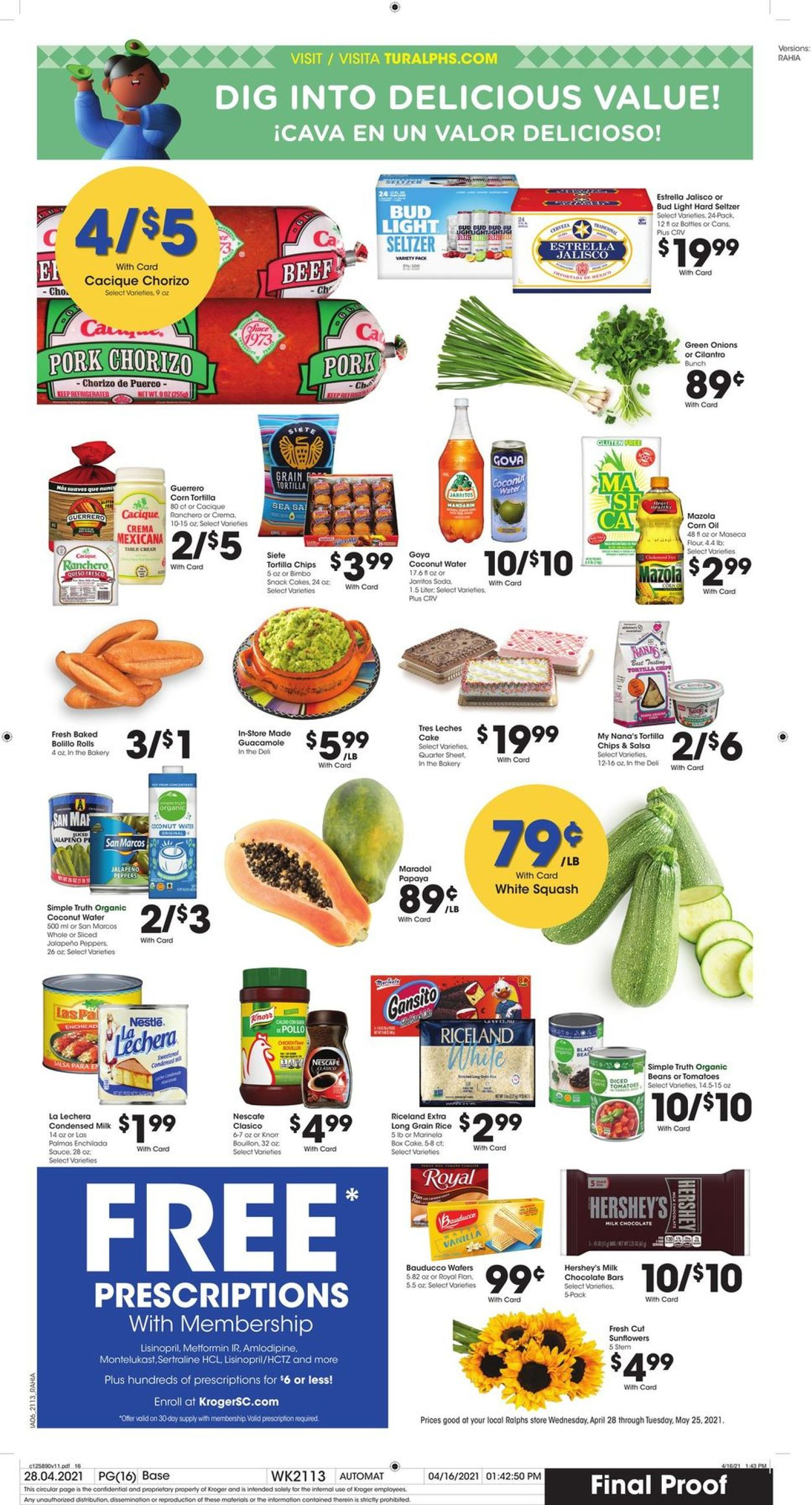 Catalogue Ralphs from 05/12/2021