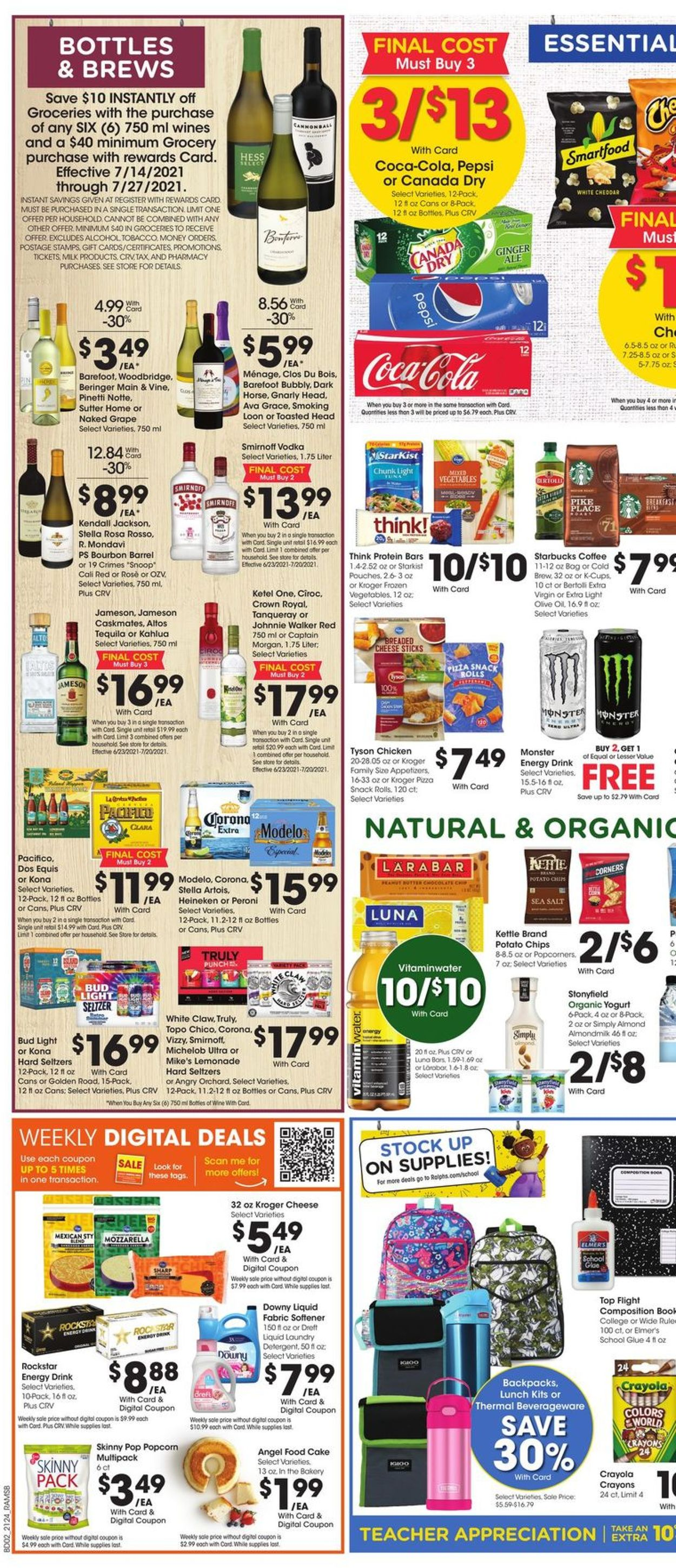 Catalogue Ralphs from 07/14/2021