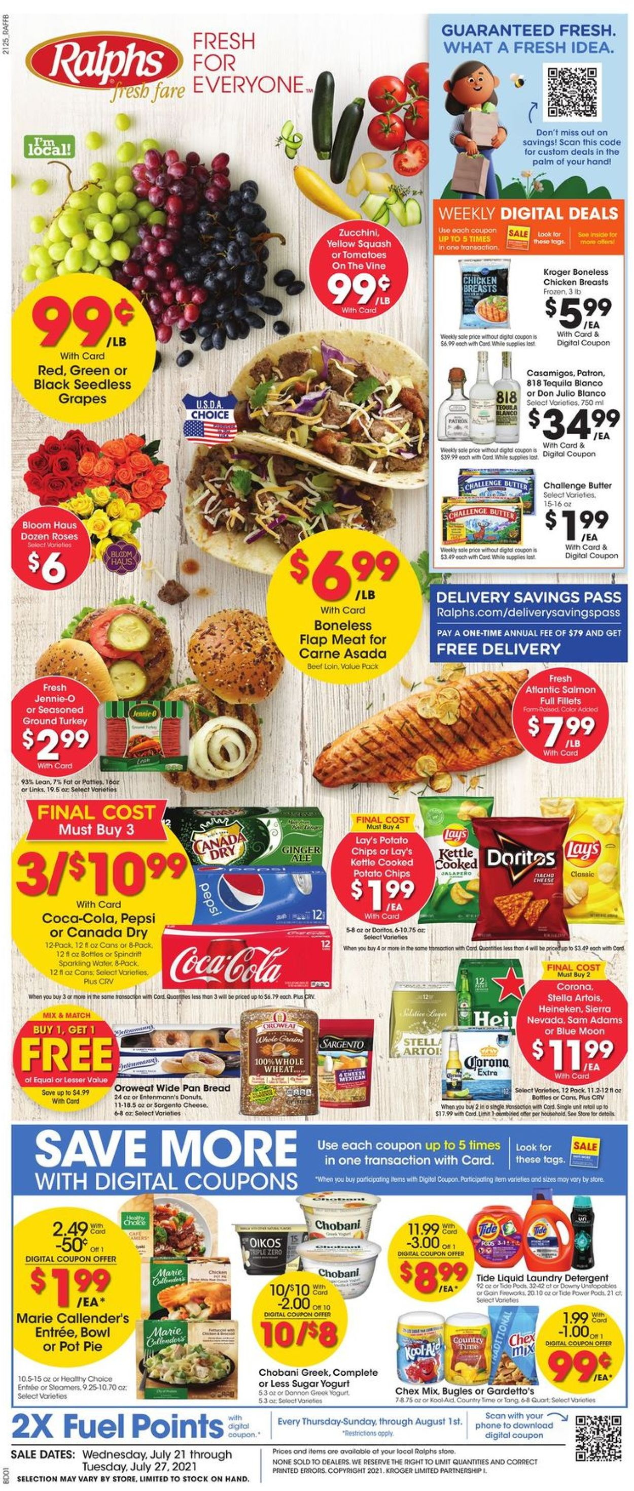 Catalogue Ralphs from 07/21/2021