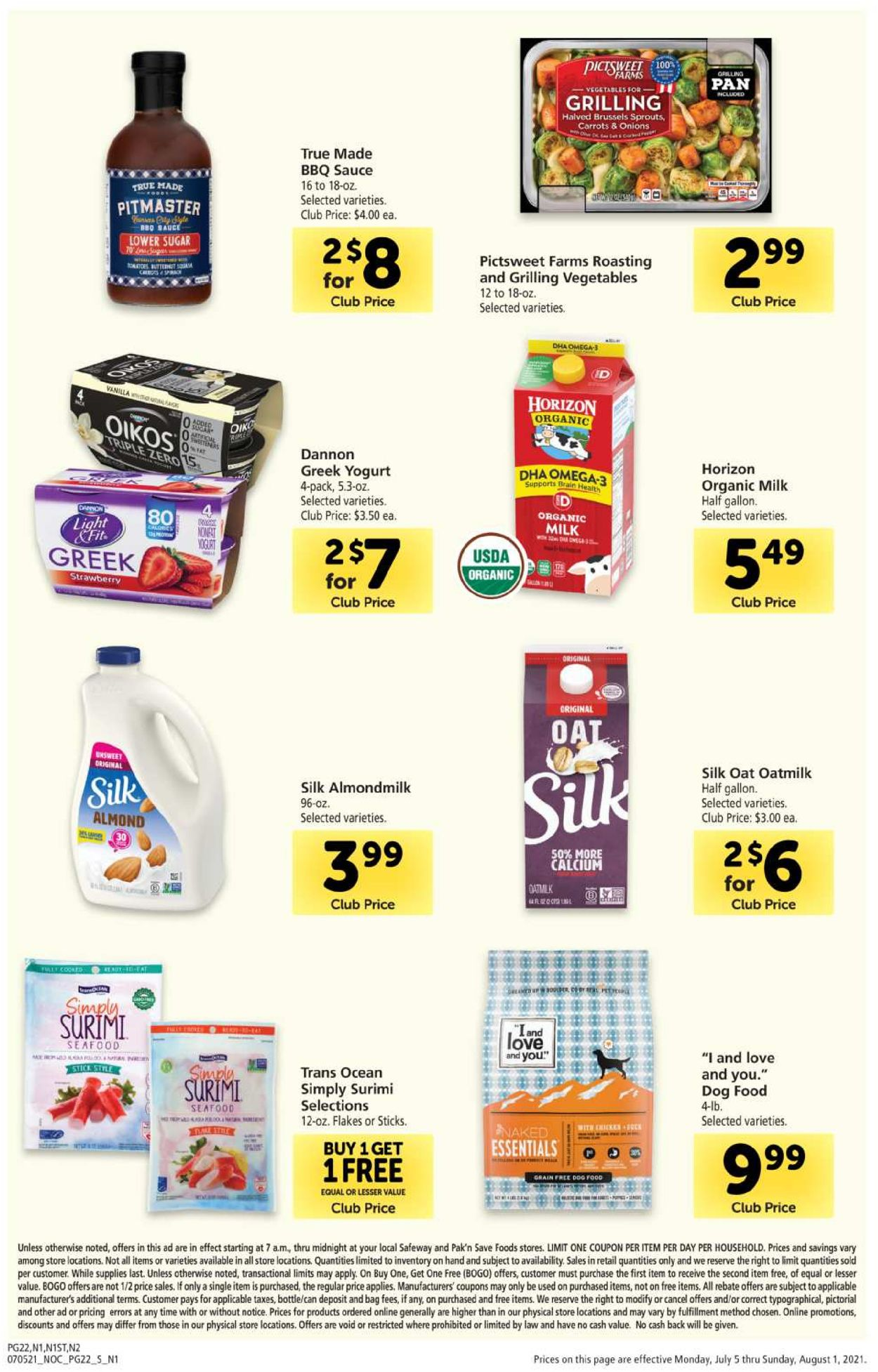 Catalogue Safeway from 07/05/2021