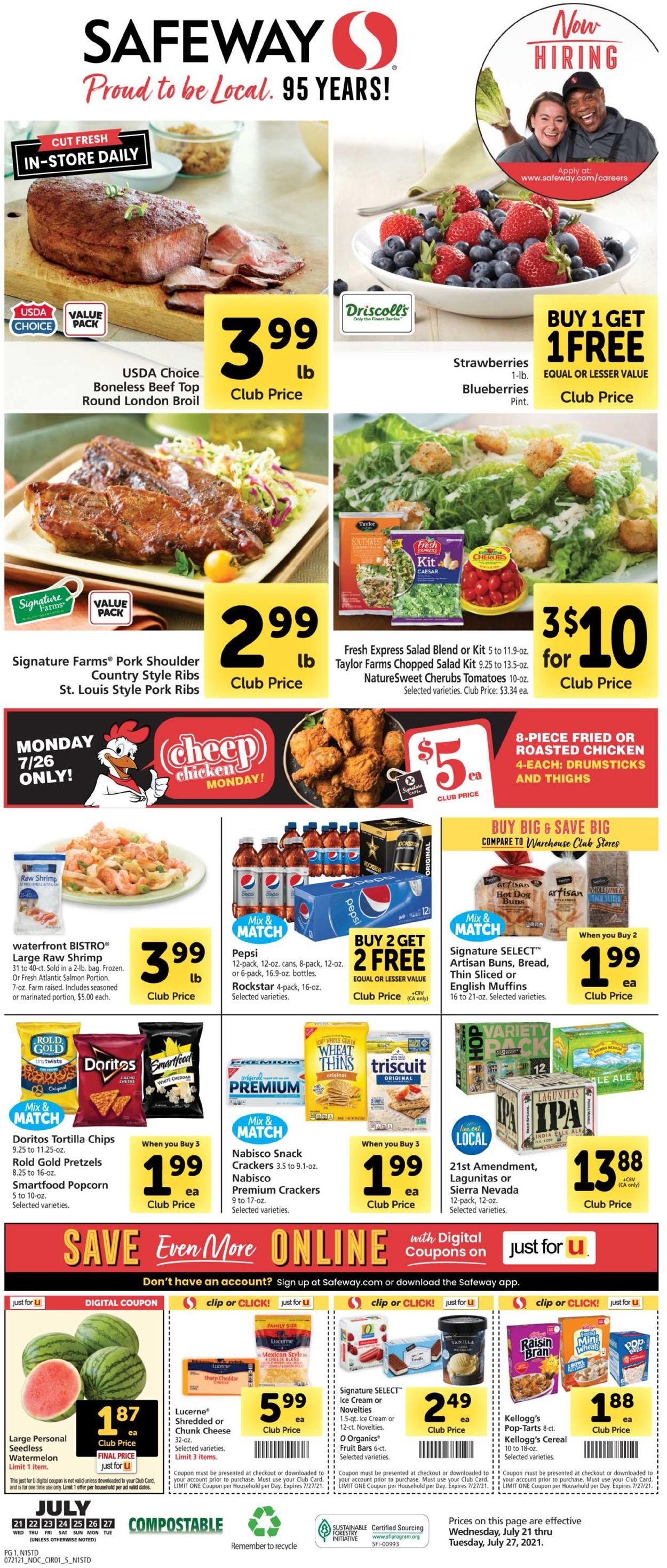 Catalogue Safeway from 07/21/2021