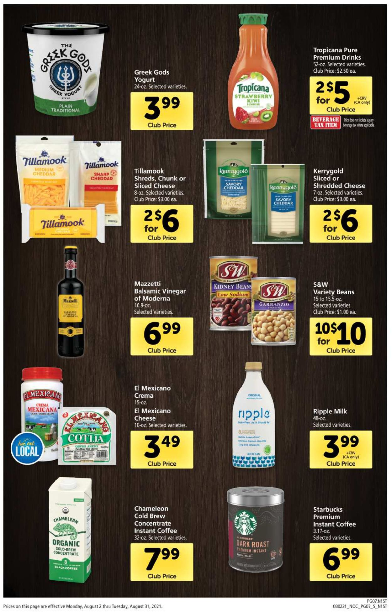Catalogue Safeway from 08/02/2021