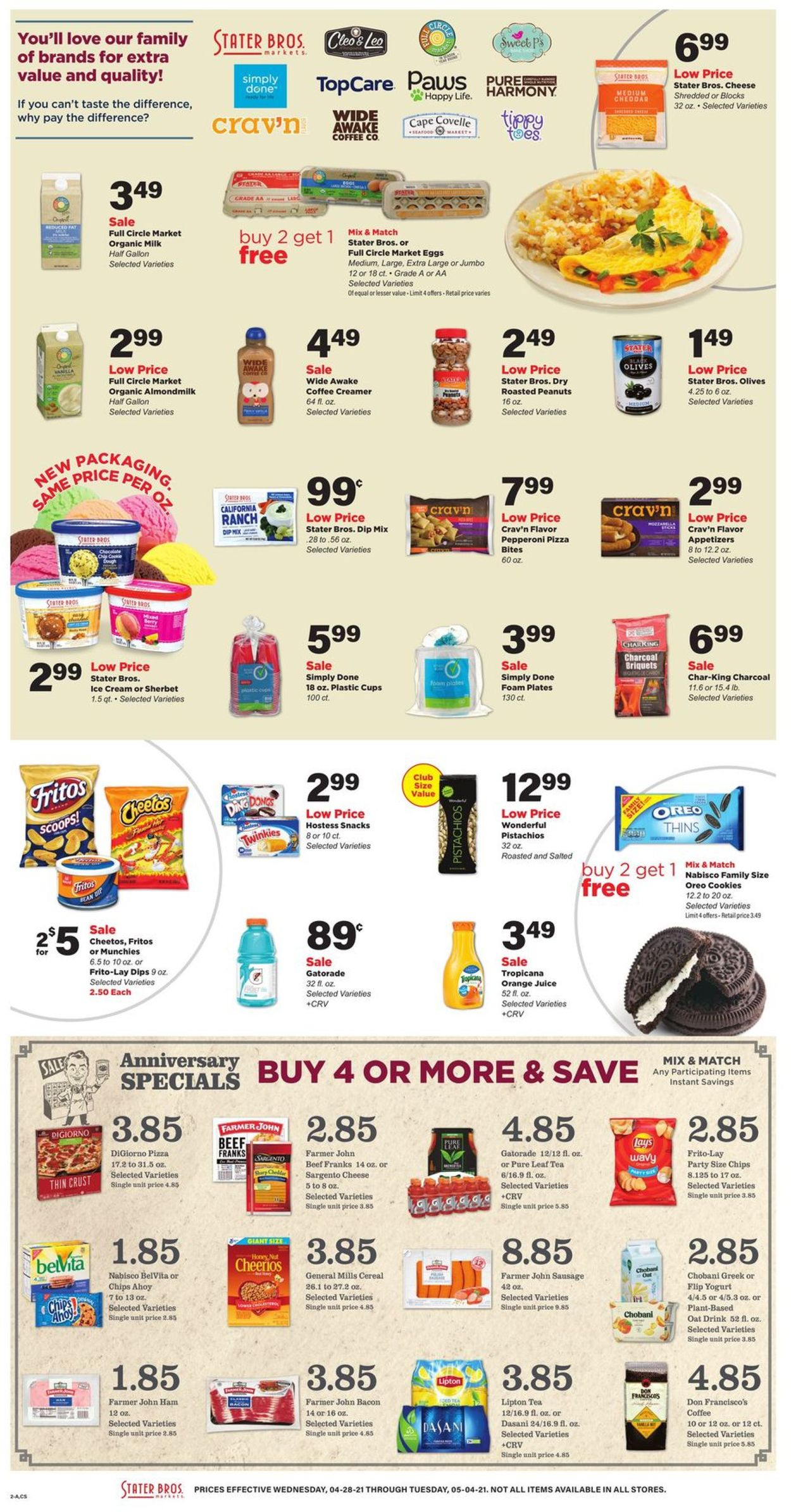 Catalogue Stater Bros. from 04/28/2021