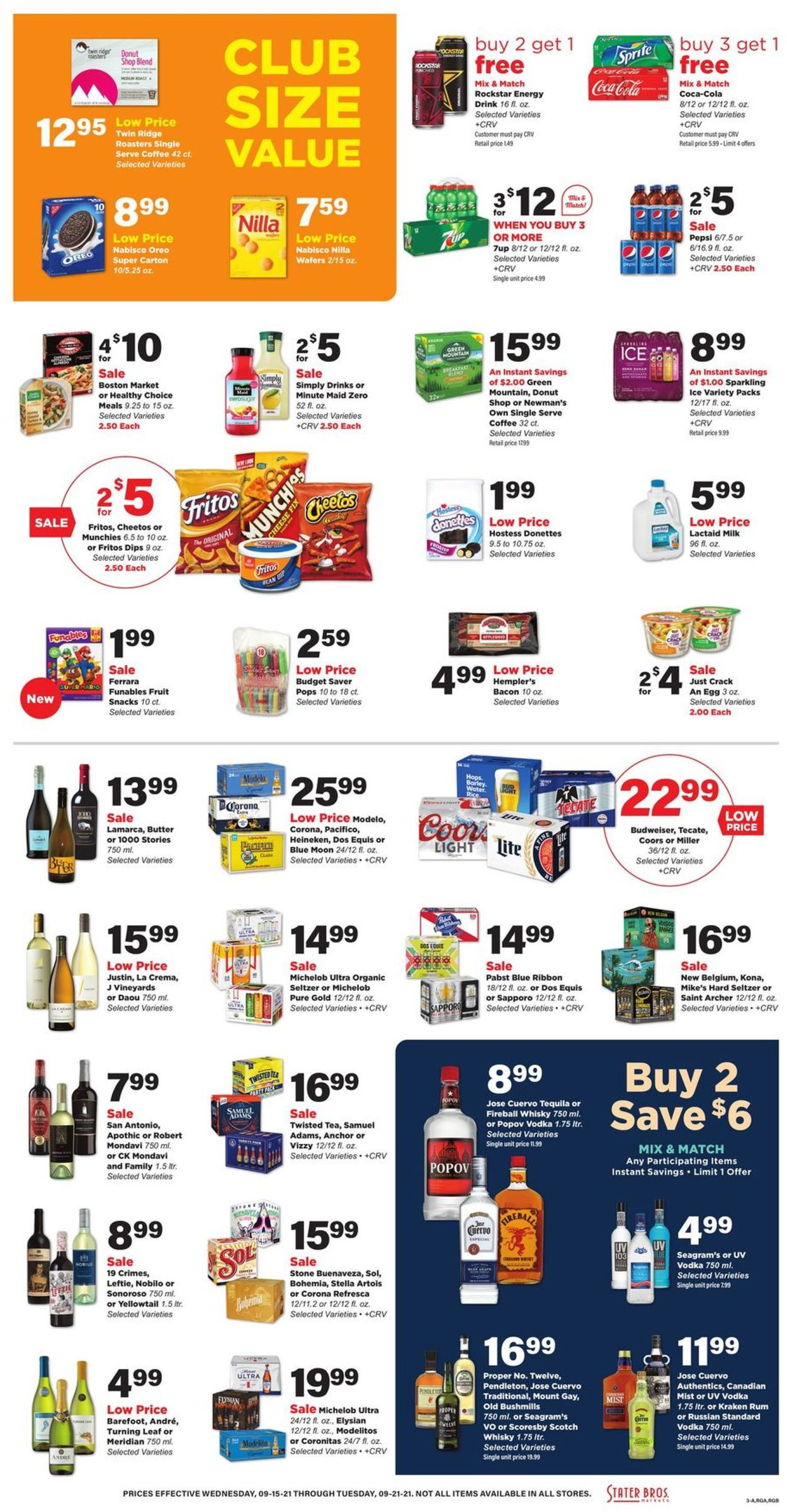 Catalogue Stater Bros. from 09/15/2021