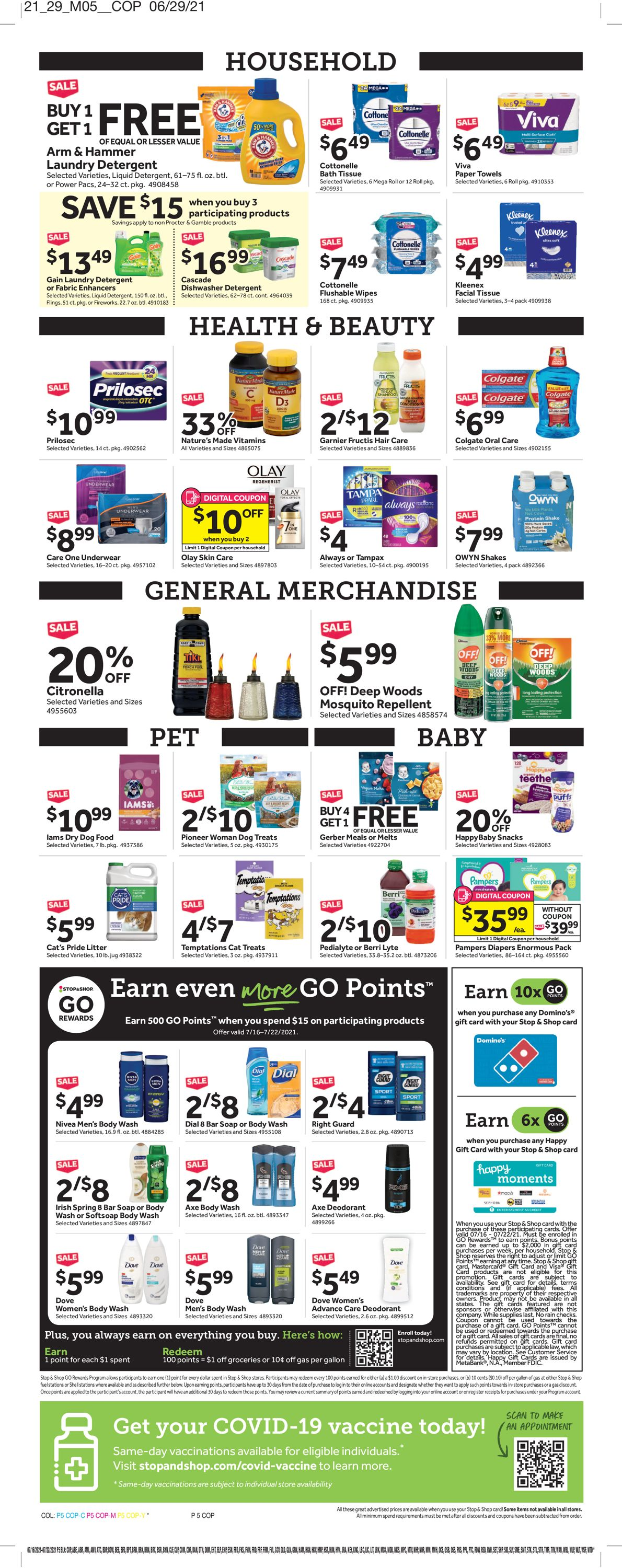 Catalogue Stop and Shop from 07/16/2021