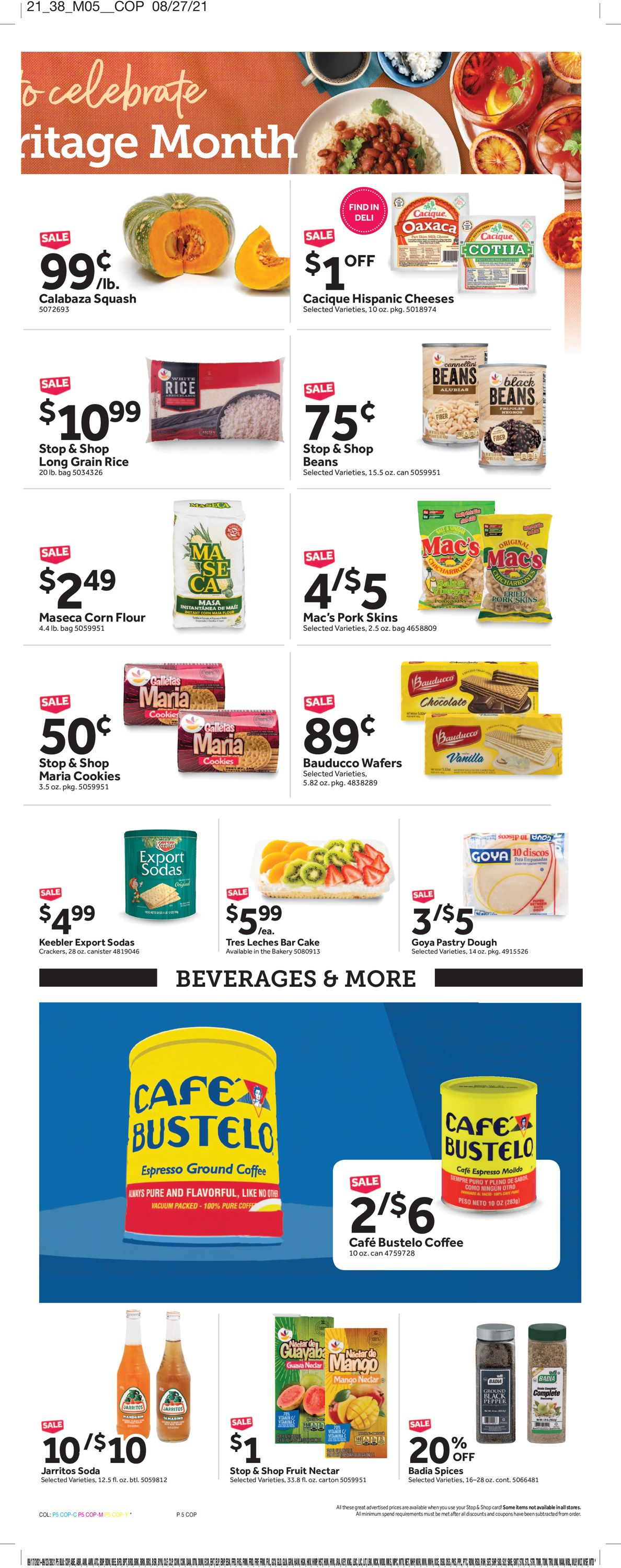 Catalogue Stop and Shop from 09/17/2021