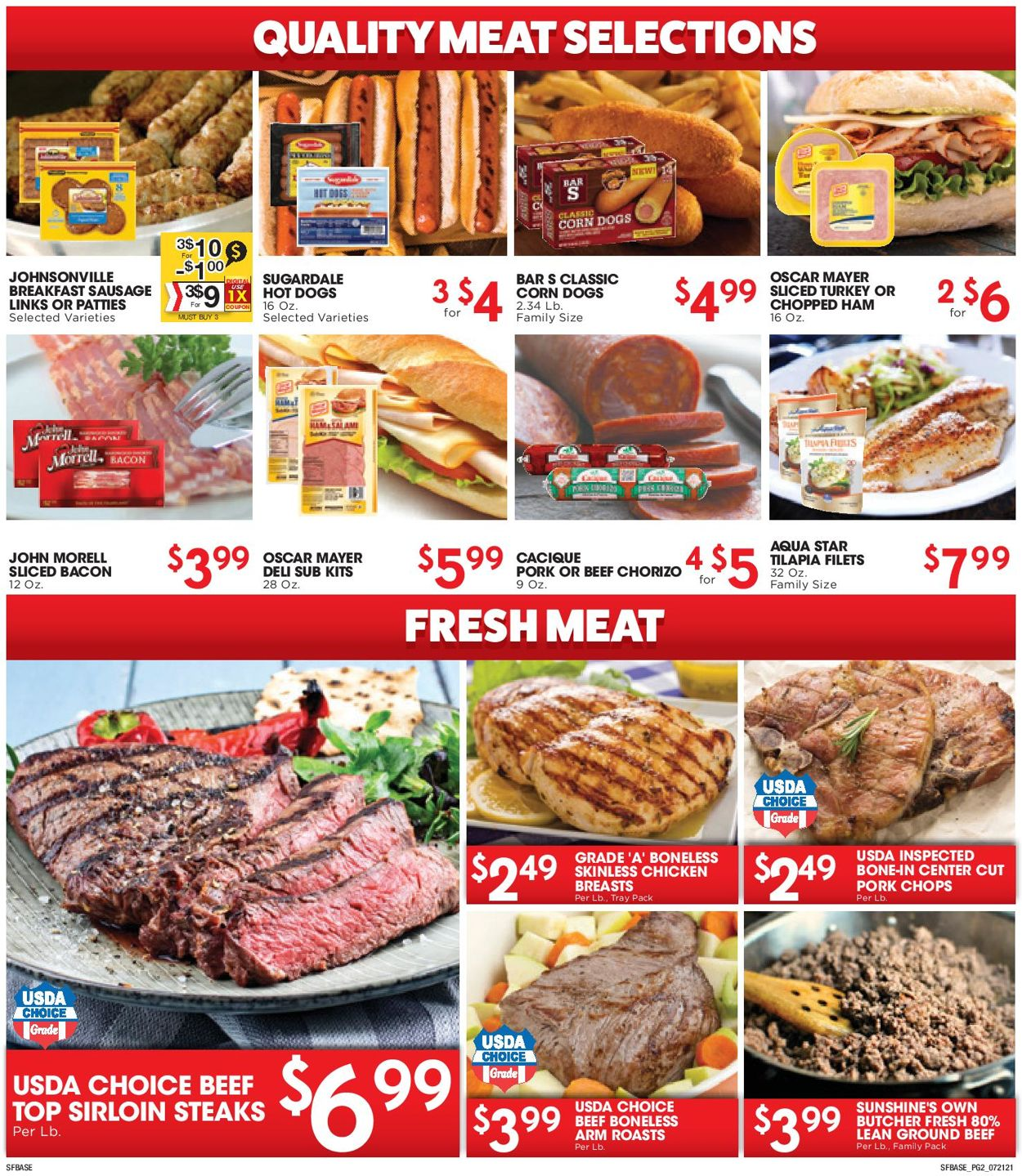 Catalogue Sunshine Foods from 07/21/2021