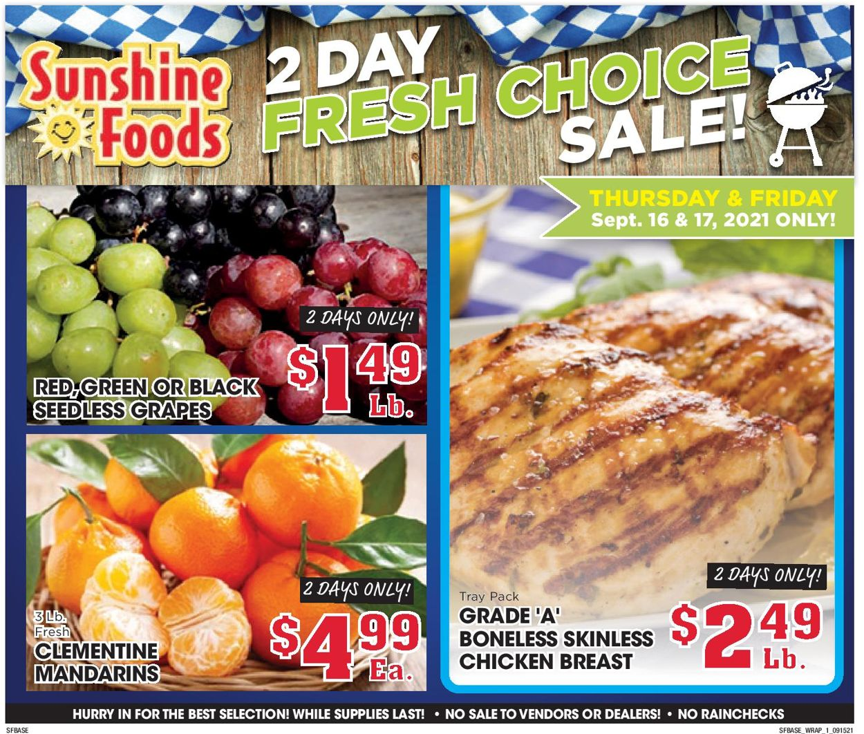 Catalogue Sunshine Foods from 09/15/2021