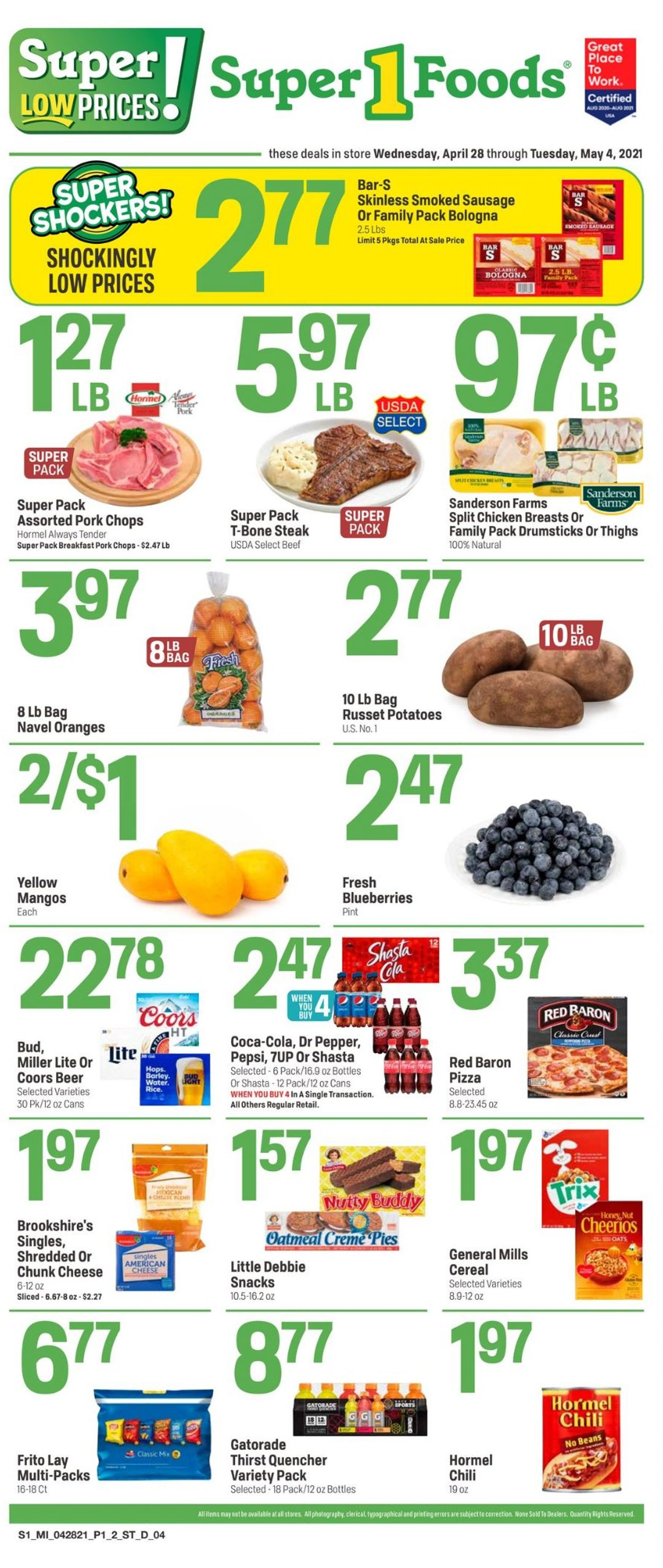 Catalogue Super 1 Foods from 04/28/2021